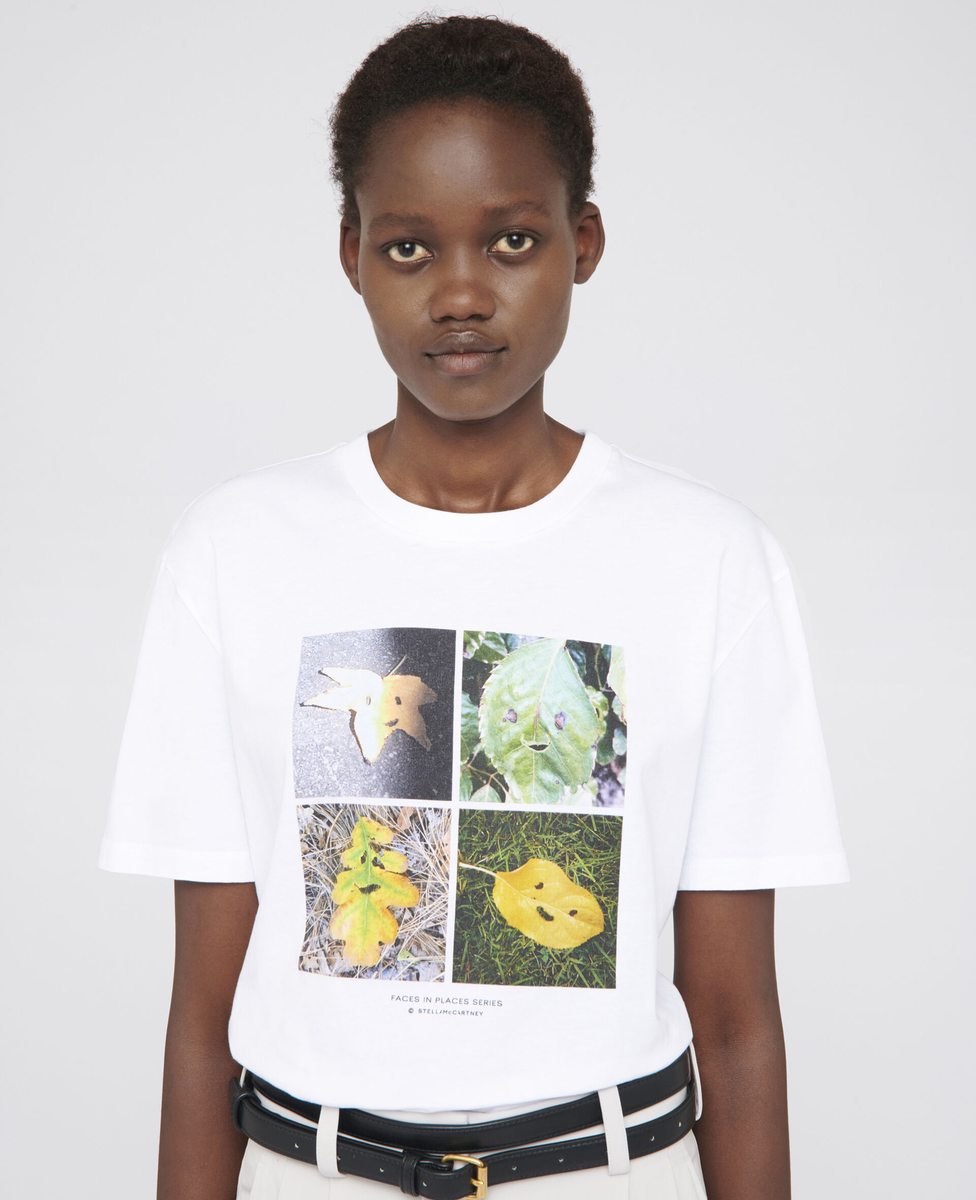"""T-Shirt mit """"Faces In Places""""-Print-Weiß-large image number 3"""