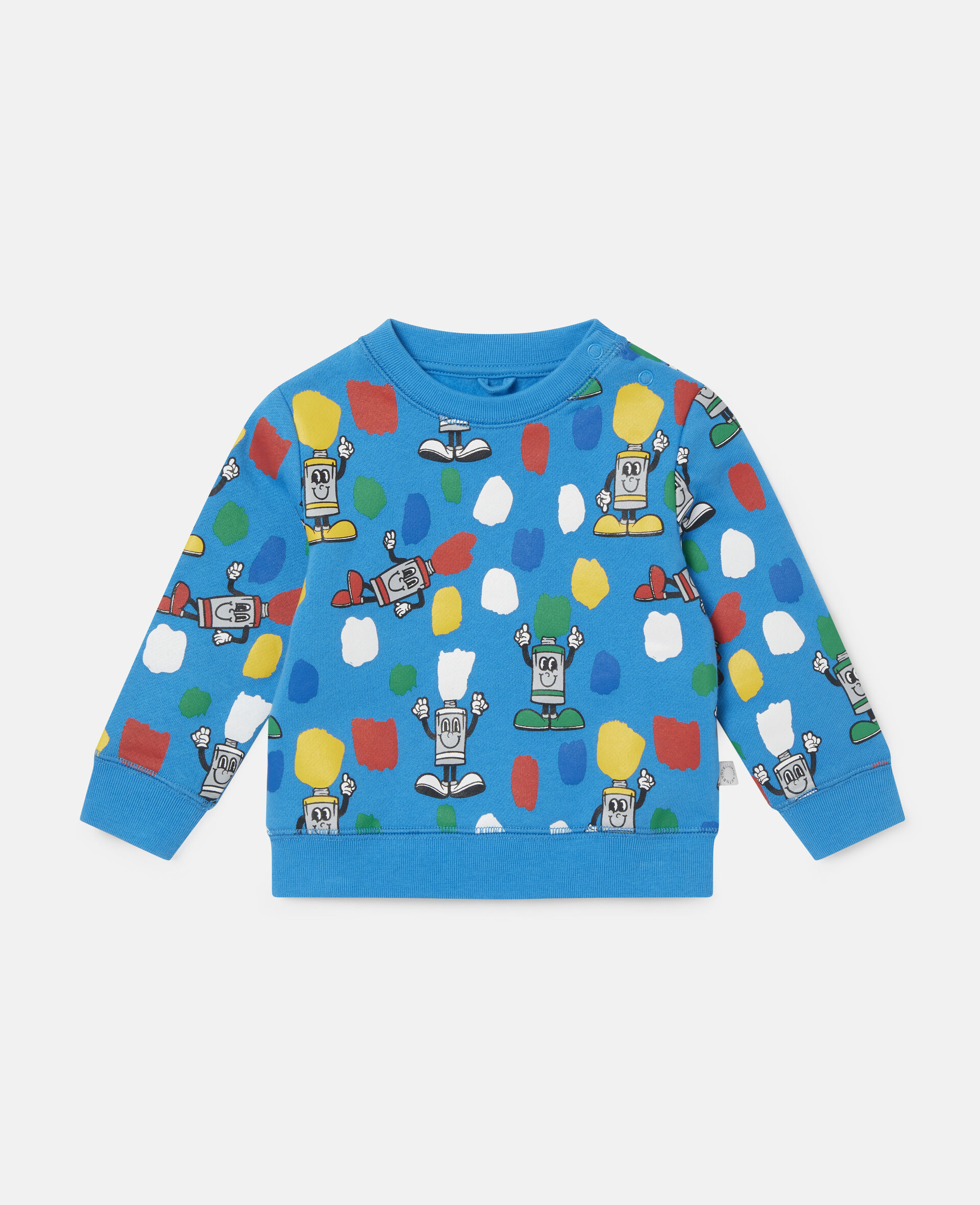 Paint Tubes Fleece Sweatshirt-Blue-large image number 0