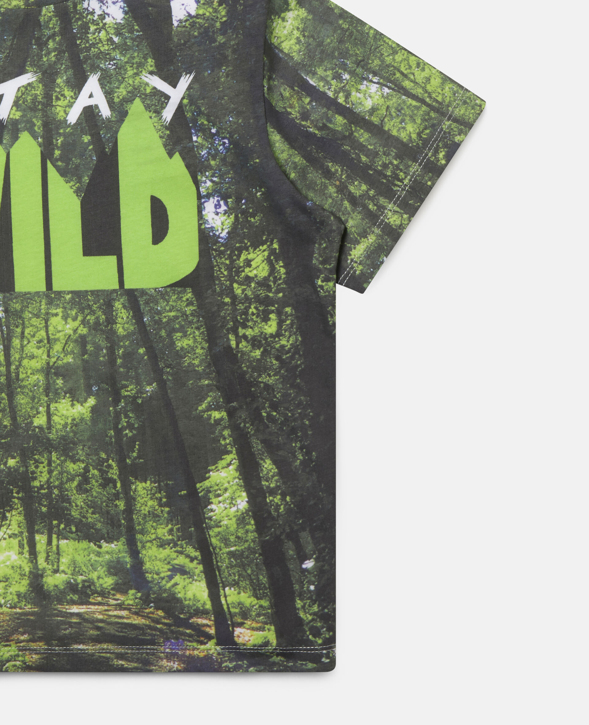 'Stay Wild' Forest Cotton T-shirt-Multicolour-large image number 1