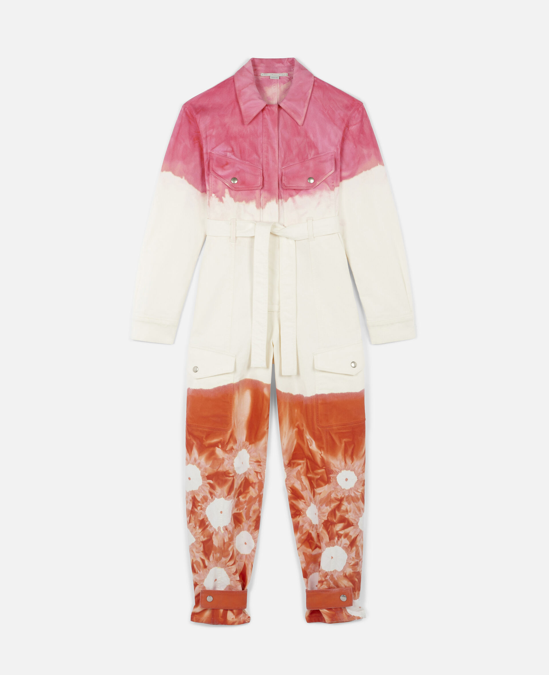 Fluo Wash Denim Jumpsuit-Multicolour-large image number 0