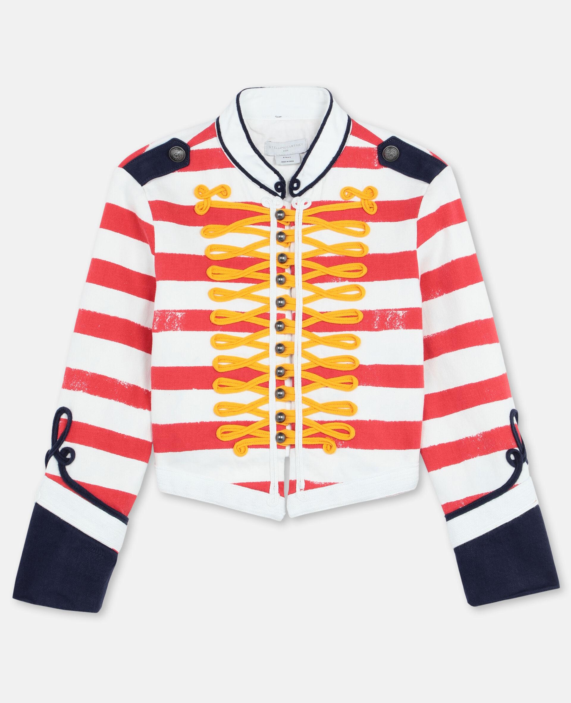 Striped Denim Jacket -Multicolour-large image number 0