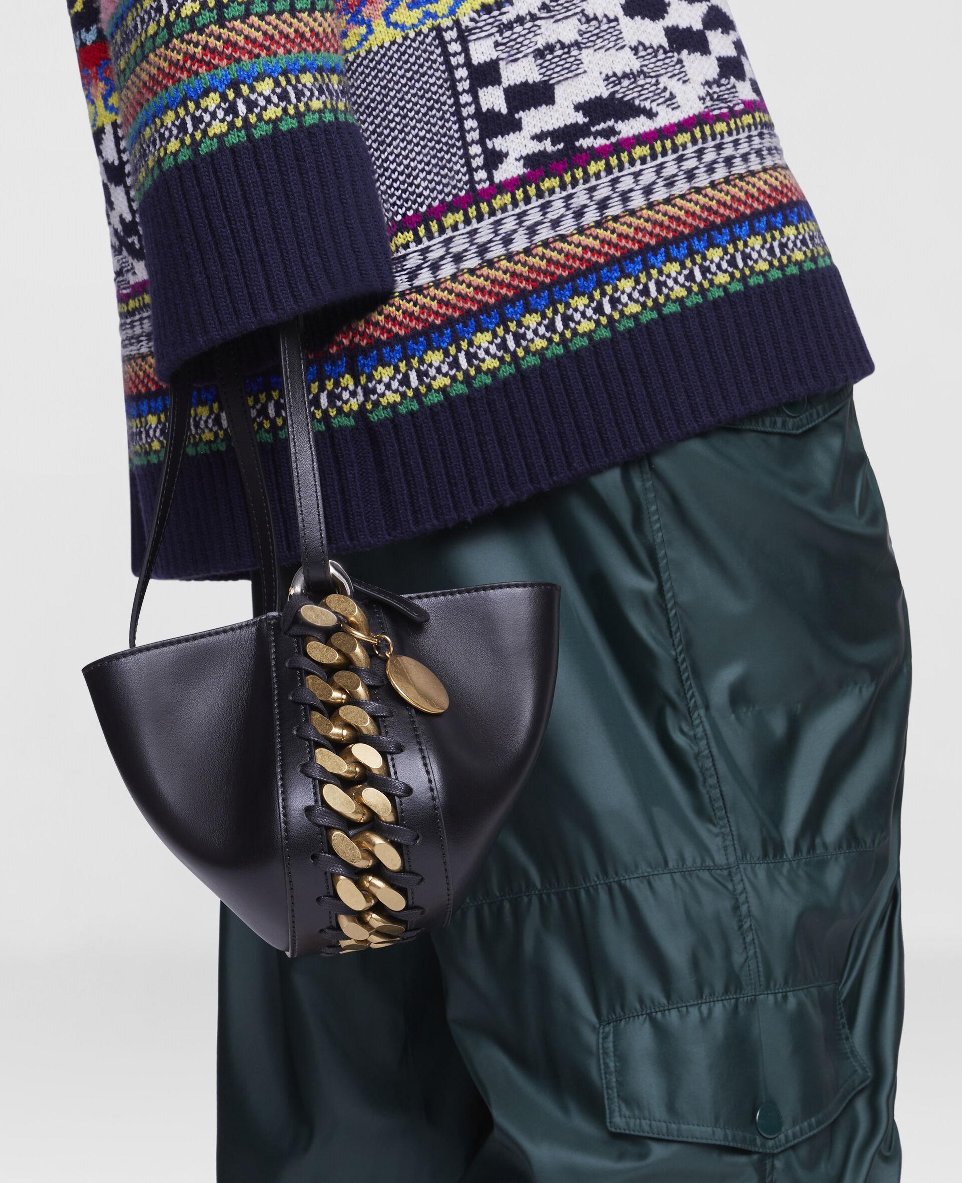 Frayme Clutch Bag-Black-large image number 4