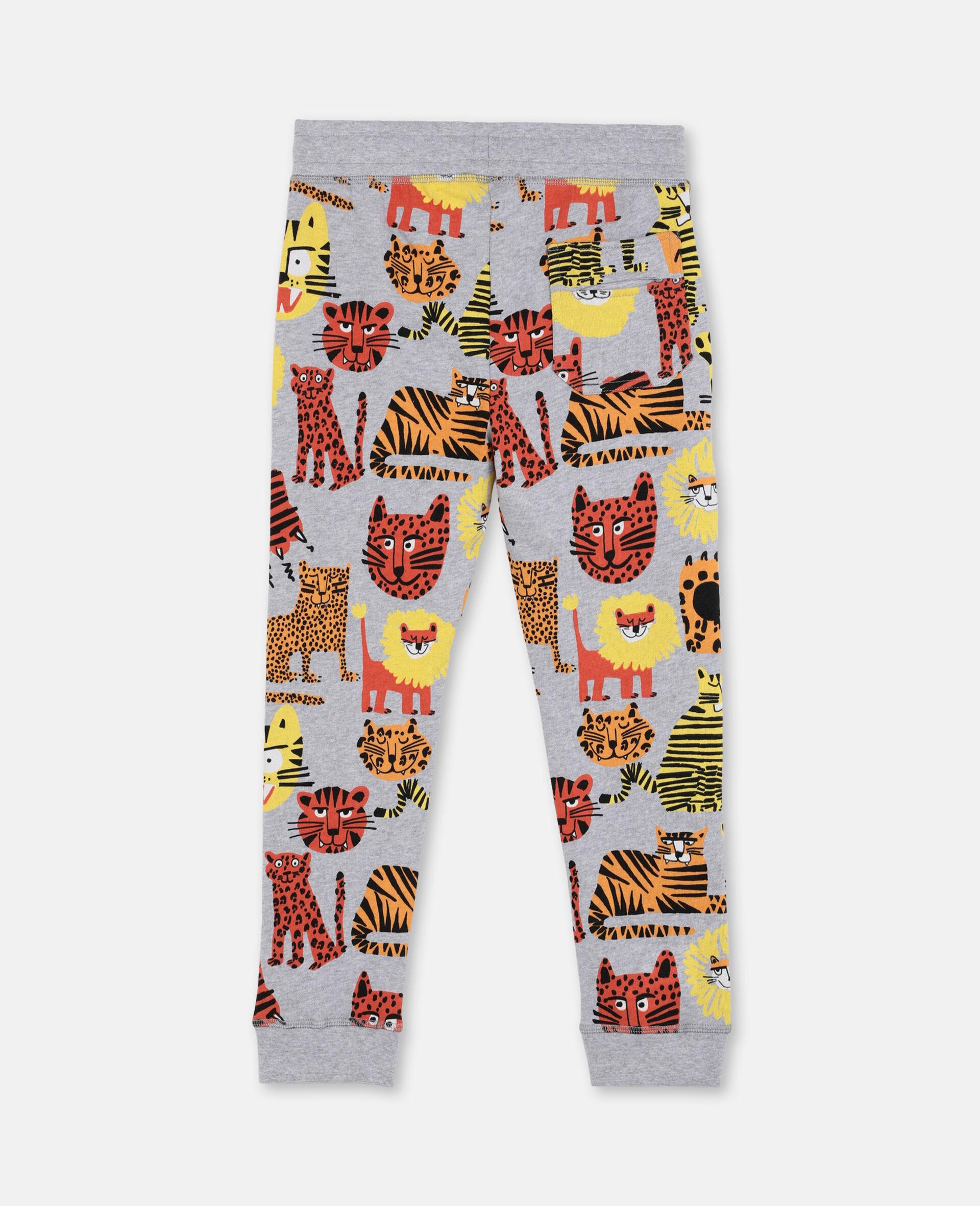 Pantalon de survêtement en coton à motif chats sauvages -Fantaisie-large image number 3