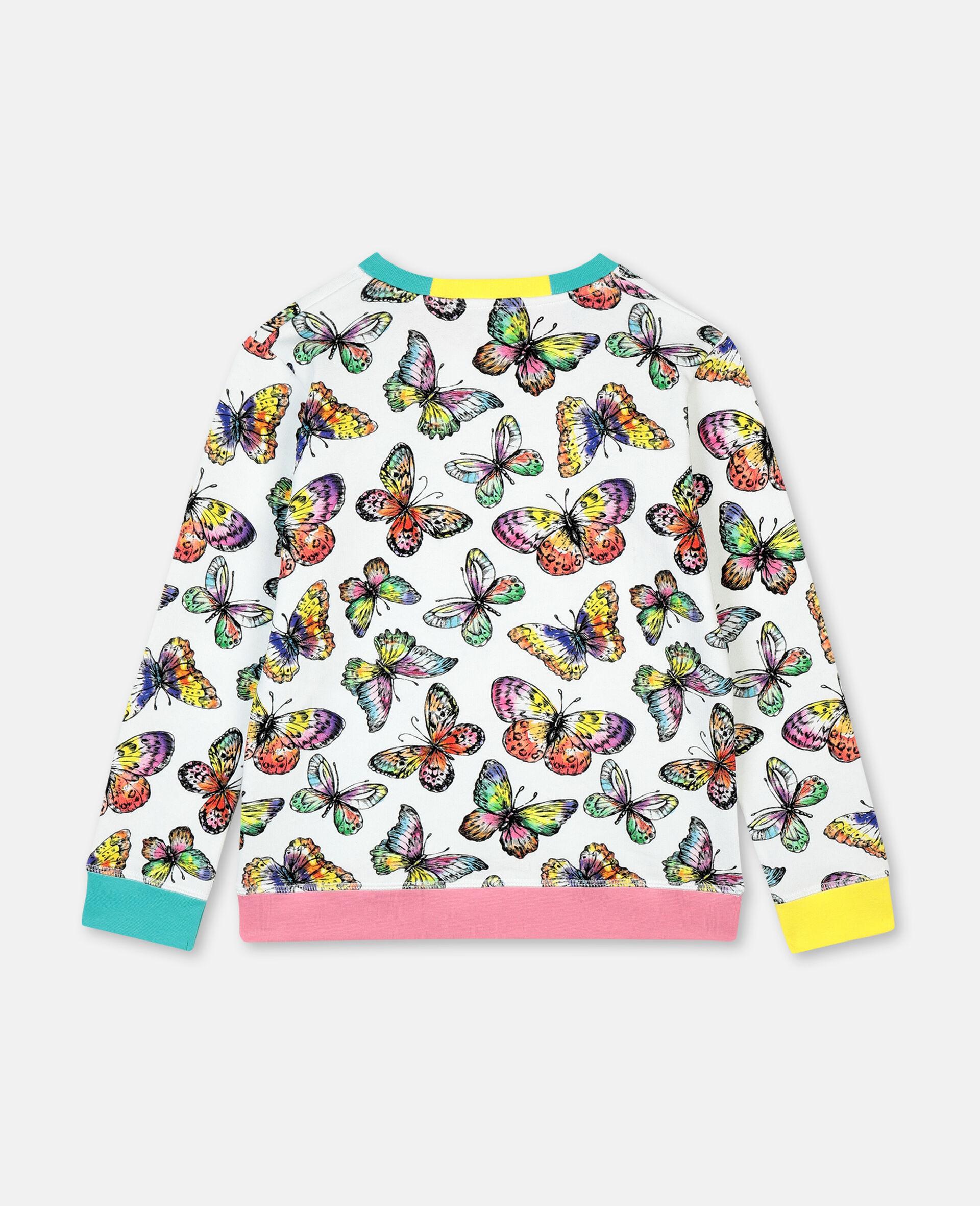 Baumwollsweatshirt mit Schmetterling-Print-Bunt-large image number 3