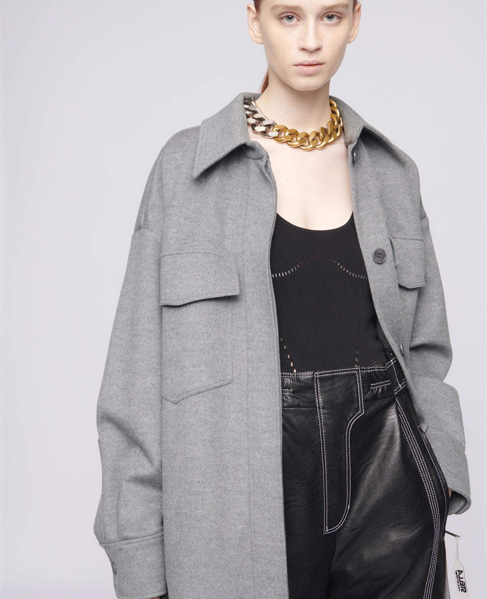 Linda Wool Coat-Grey-large image number 3