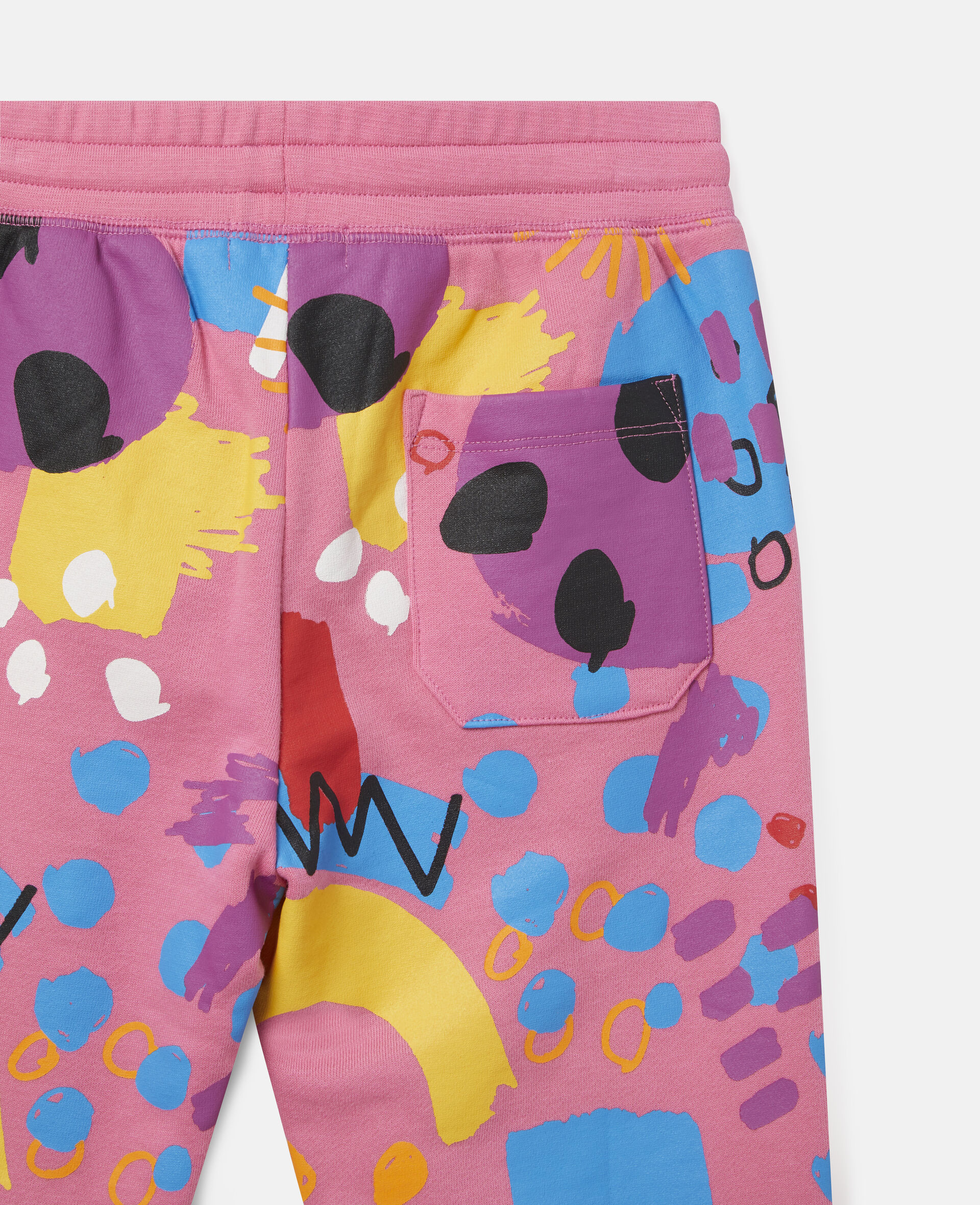 Painting Cotton Fleece Joggers-Pink-large image number 2