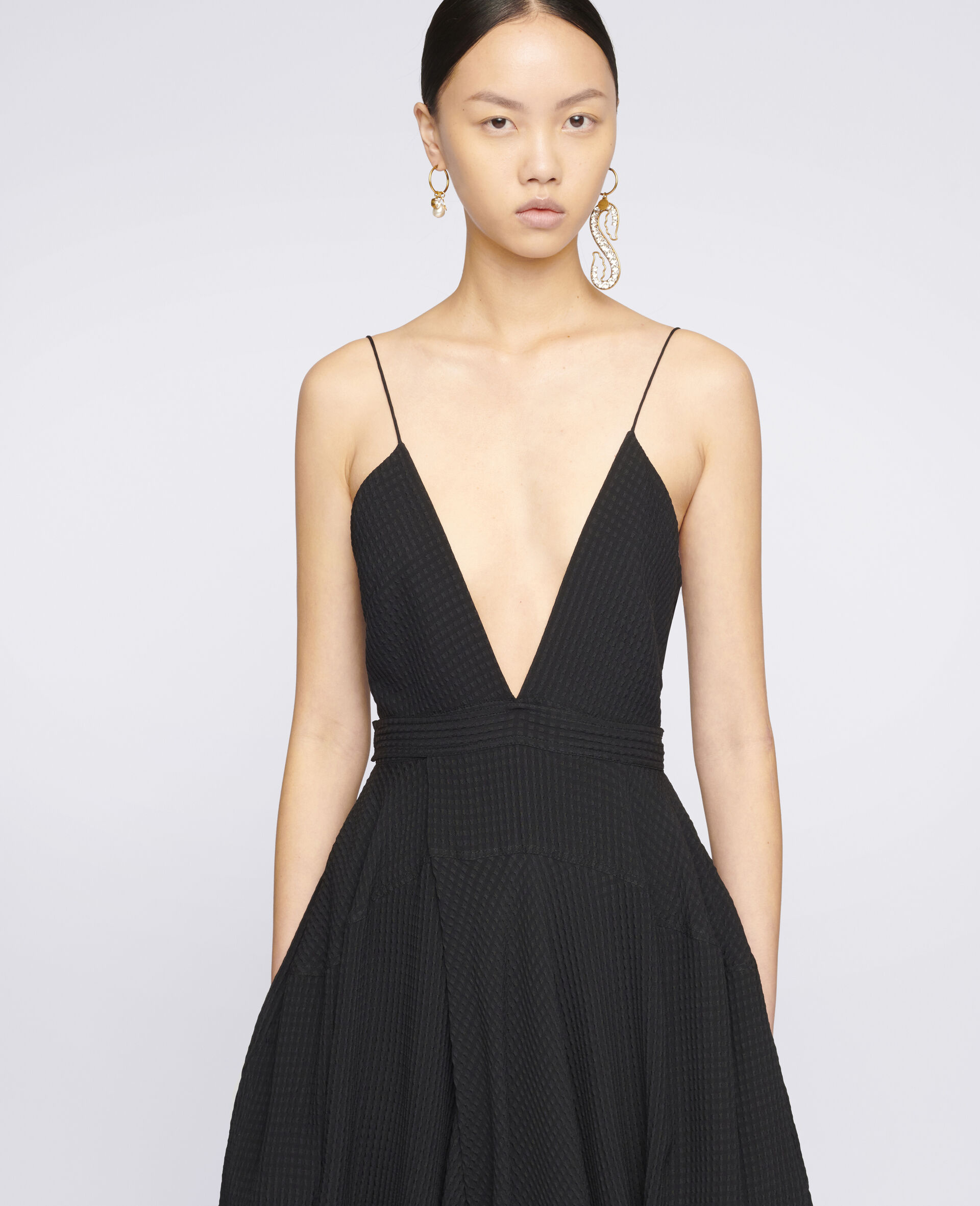 Jenna Silk Dress-Black-large image number 3