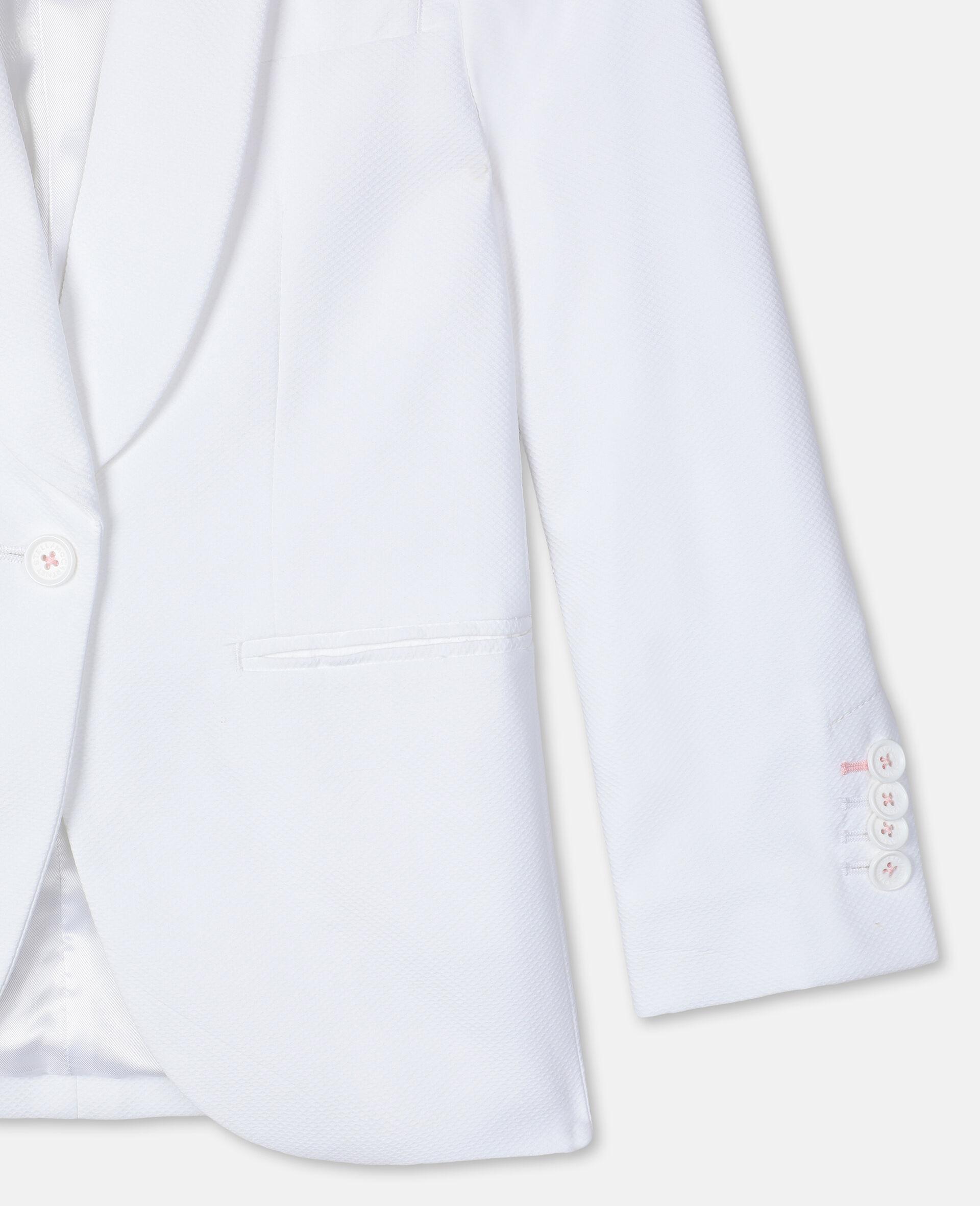 Cotton-Piqué Suit Jacket -White-large image number 2