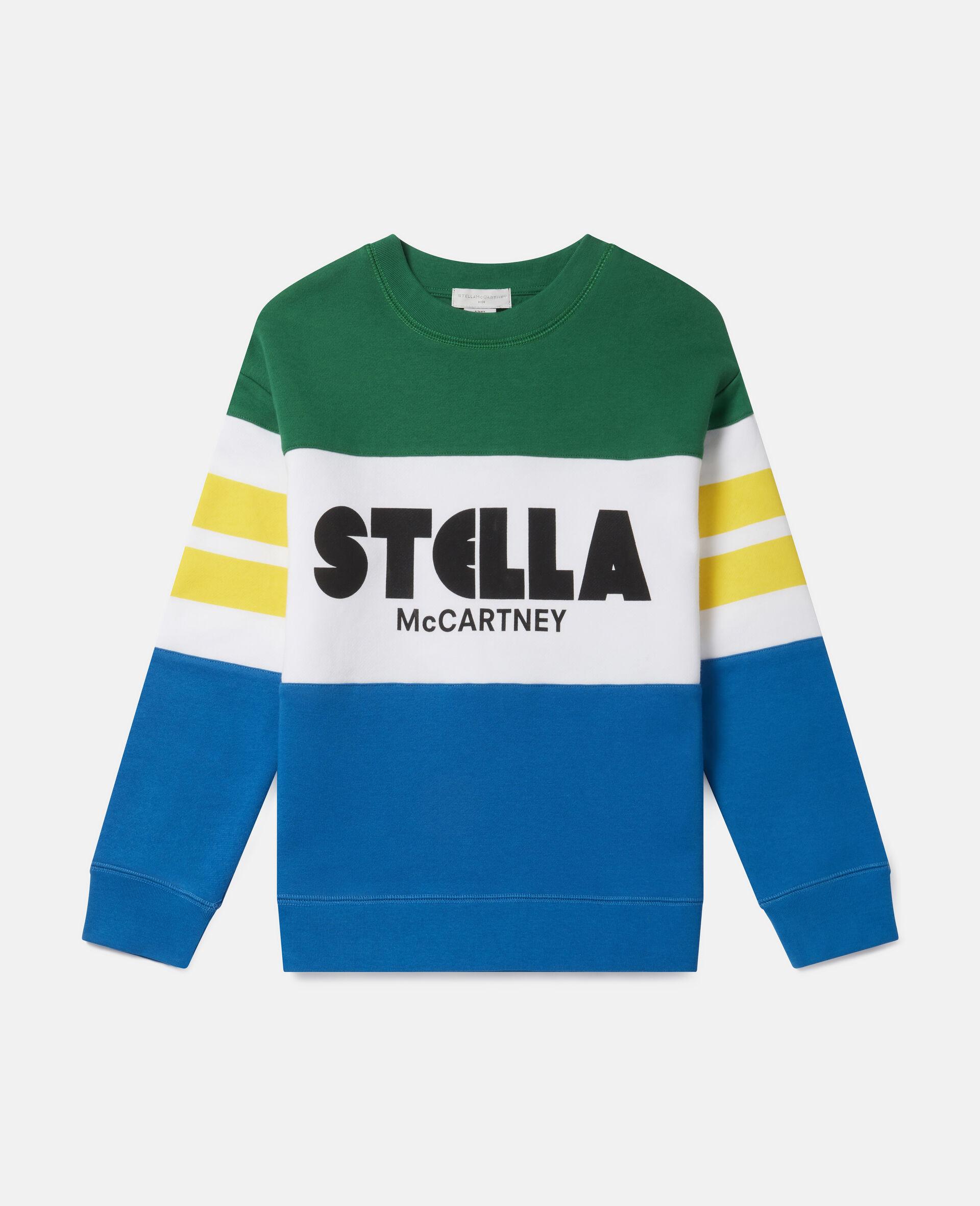 Oversized Logo Fleece Sweatshirt-Multicolour-large image number 0