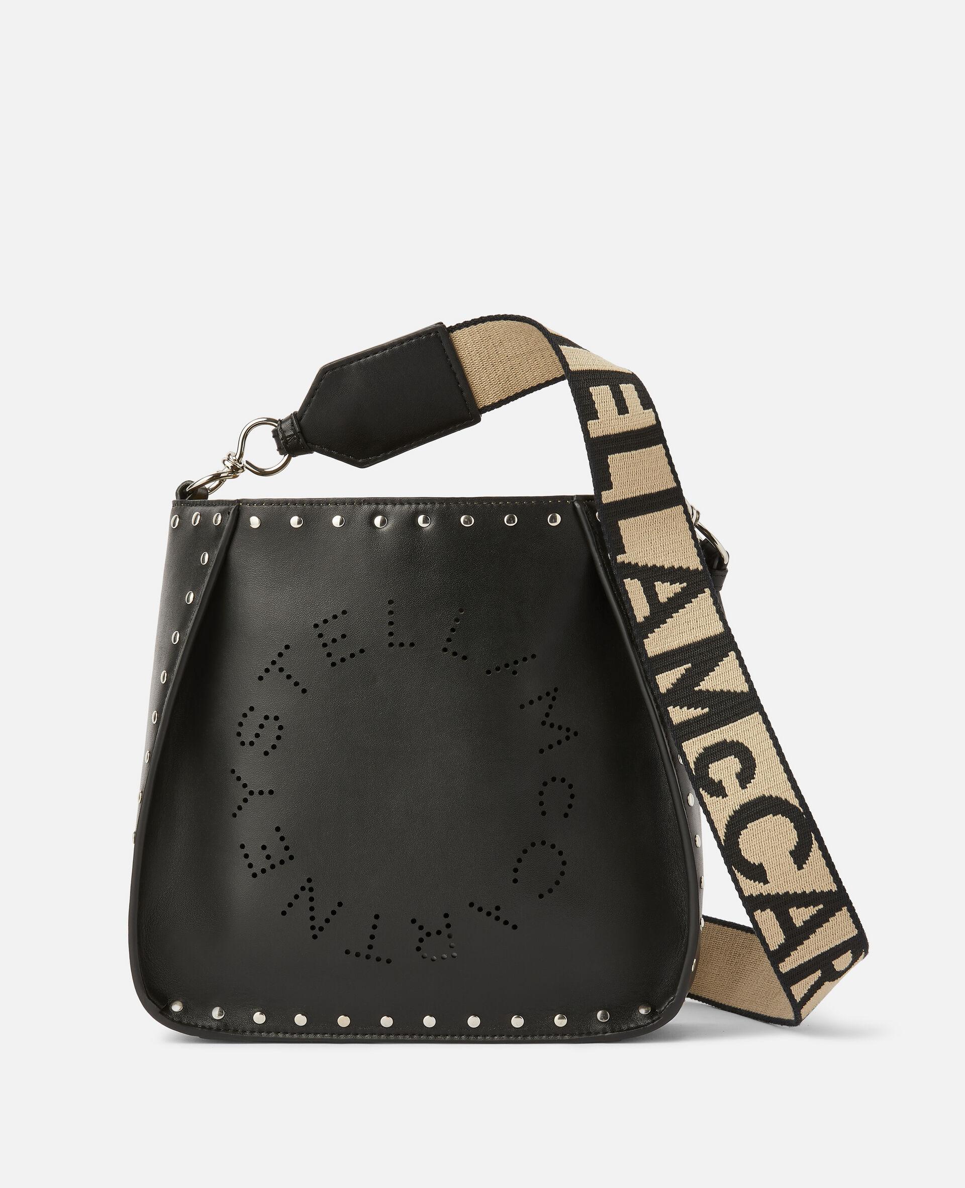 Sac porté épaule clouté à logo Stella-Noir-large image number 0