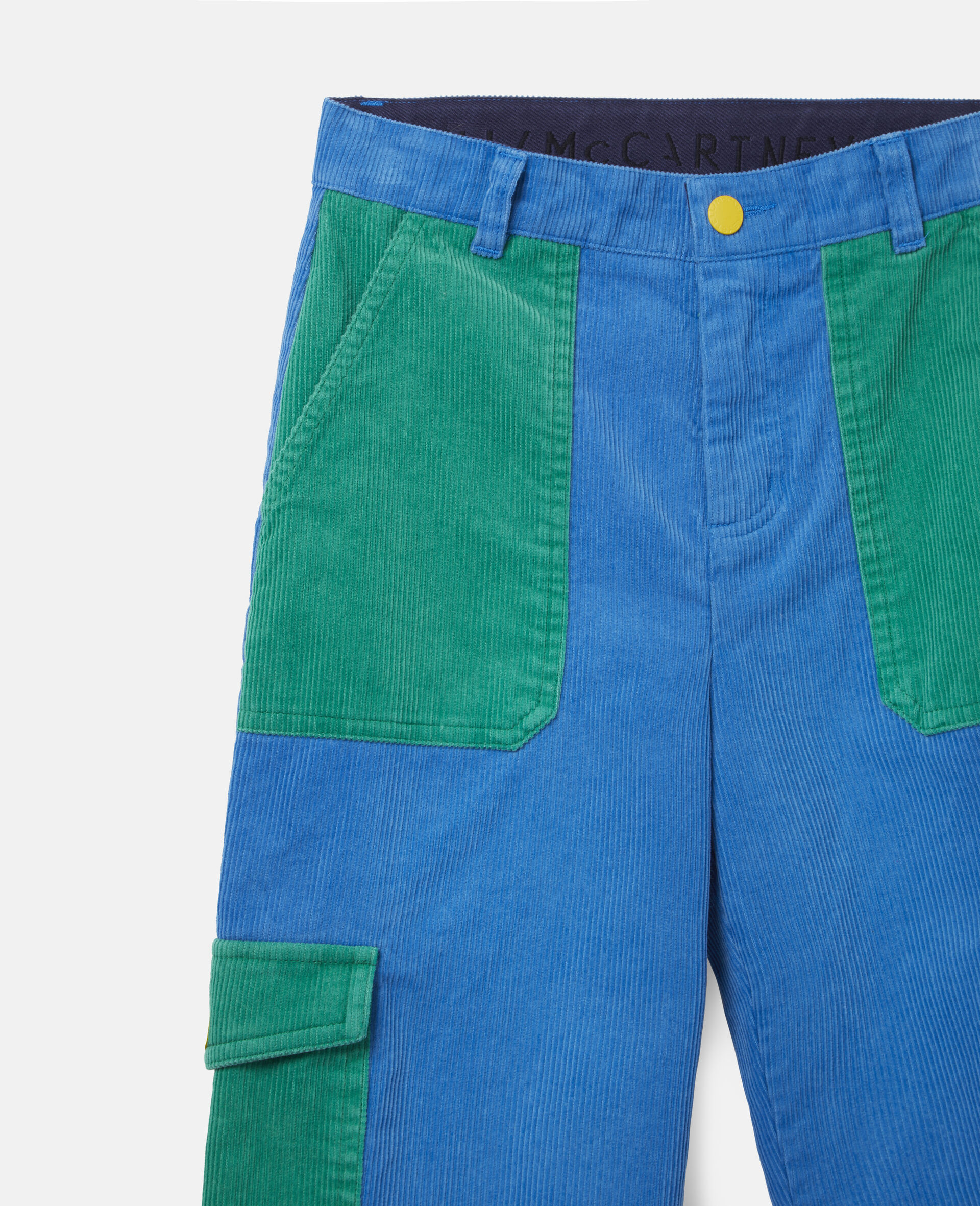 Cargo Corduroy Trousers-Blue-large image number 1