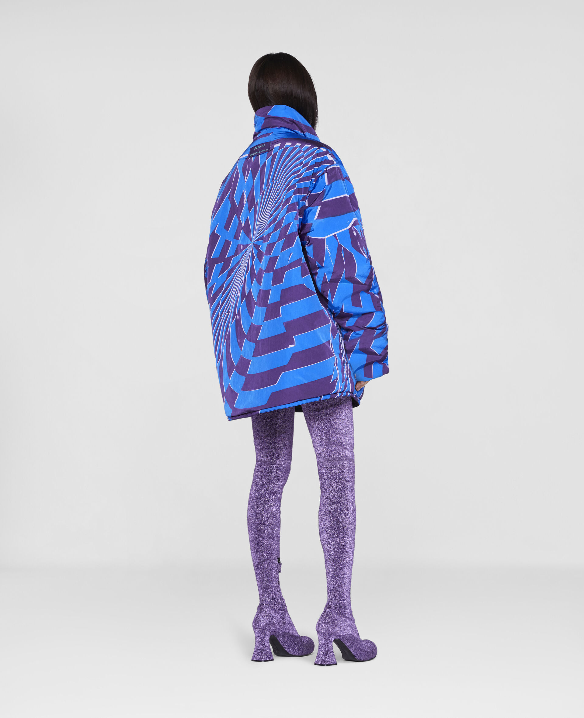 Ed Curtis Psychedelic Reversible Coat -Multicolour-large image number 2