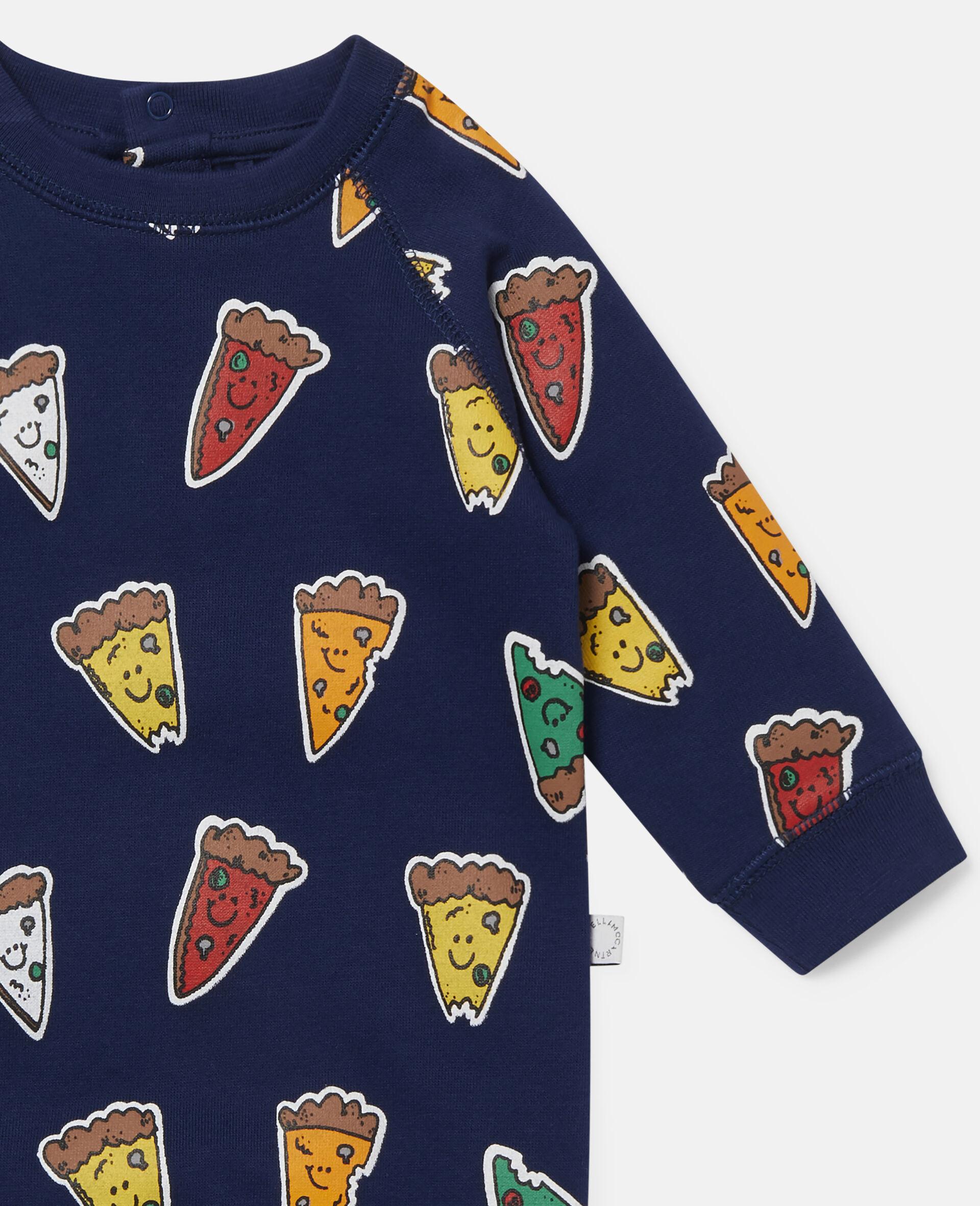 Pizzas Fleece Jumpsuit-Blue-large image number 2