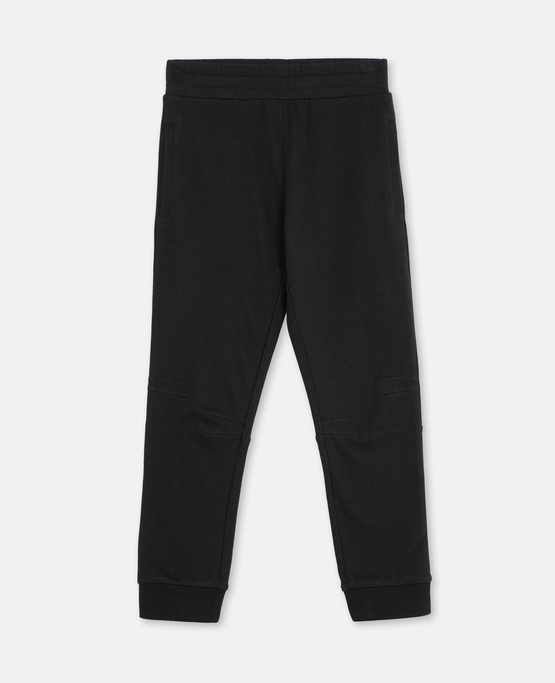 Basic 棉质运动裤 -黑色-large image number 0