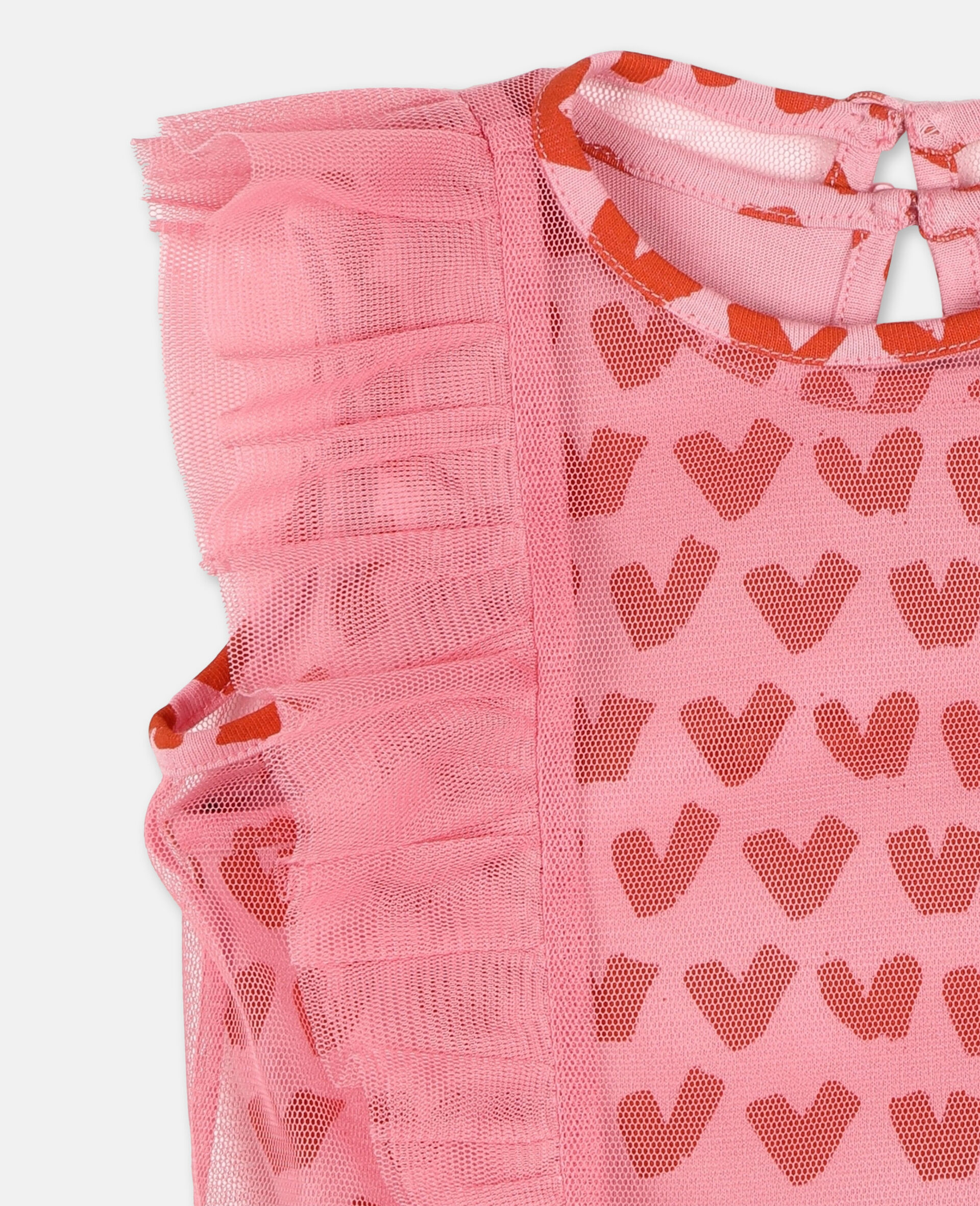 Hearts Tulle Dress-Pink-large image number 1