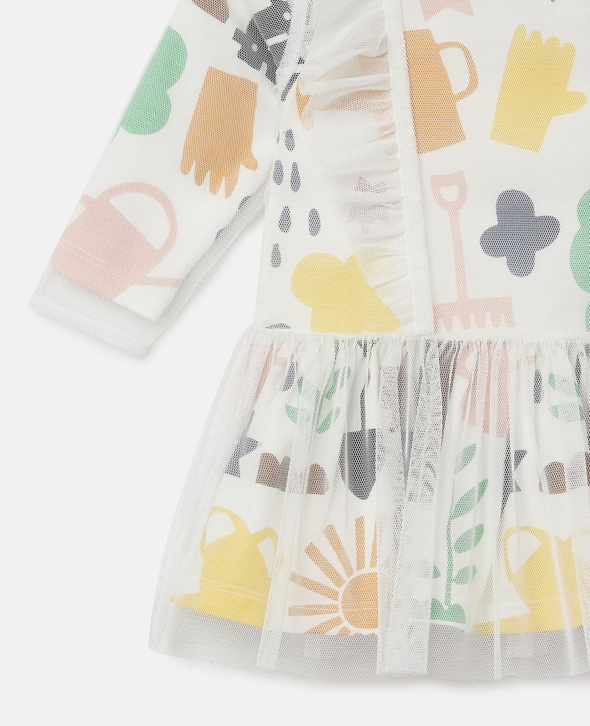 Garden Tulle Dress-White-large image number 1