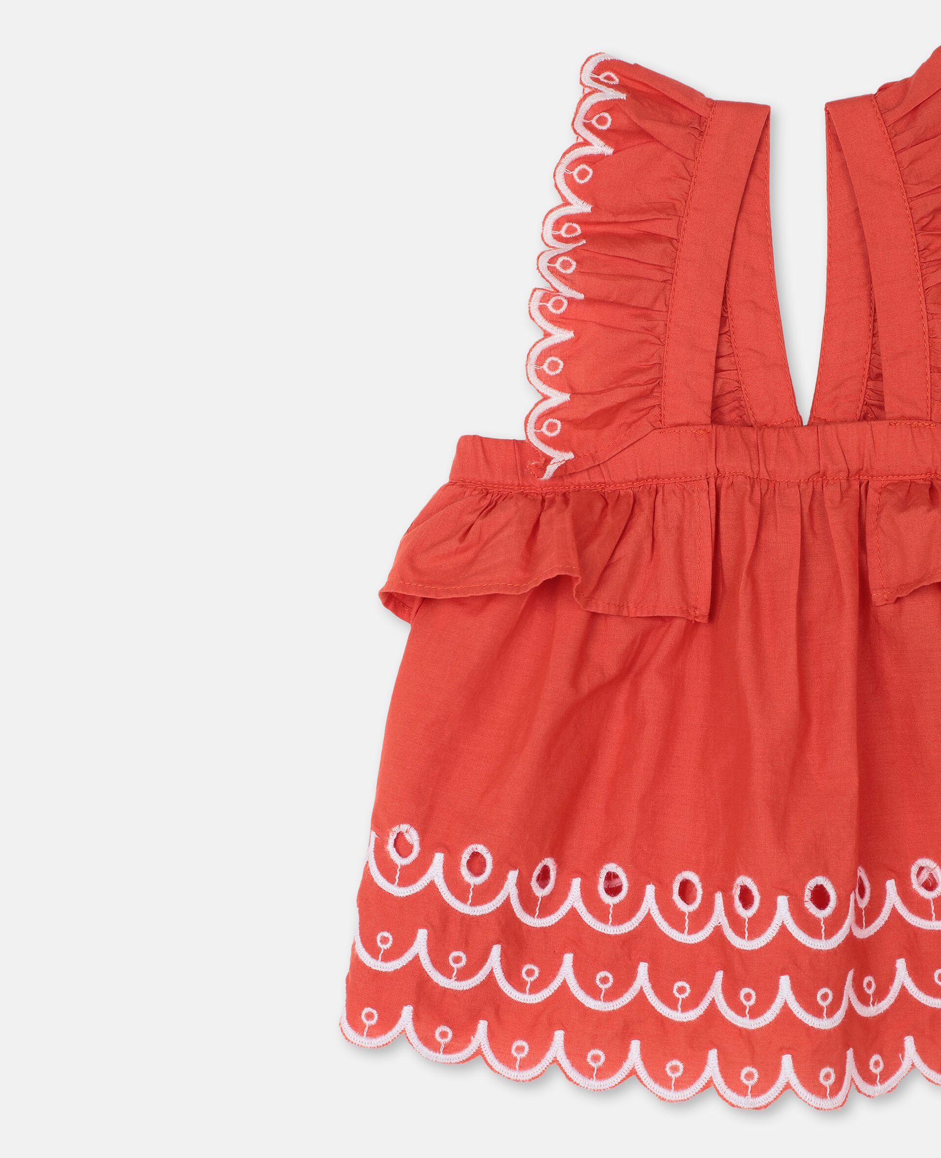 Scalloped Cotton Set -Red-large image number 1