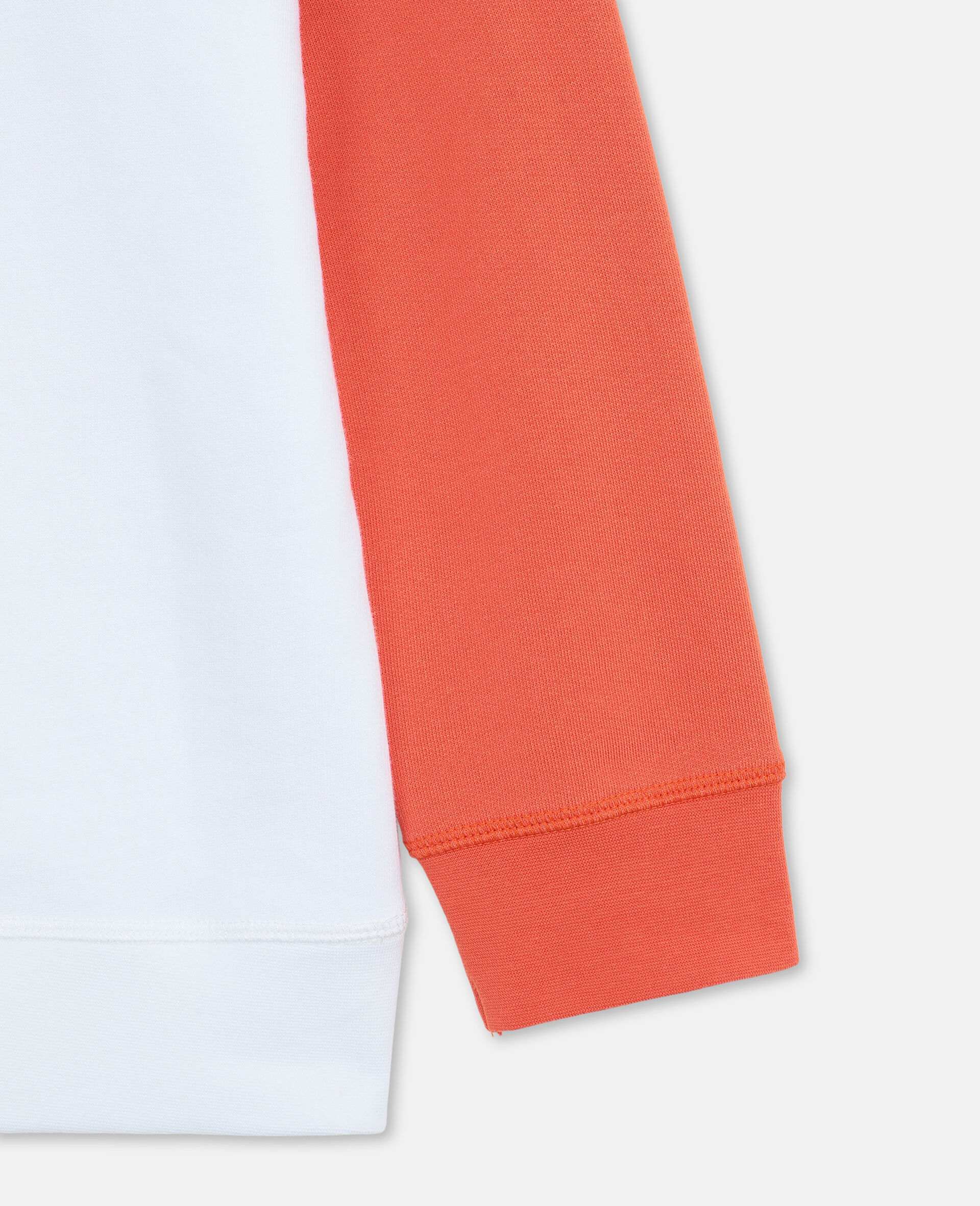 Oversize Logo Basketball Cotton Hoodie-White-large image number 2