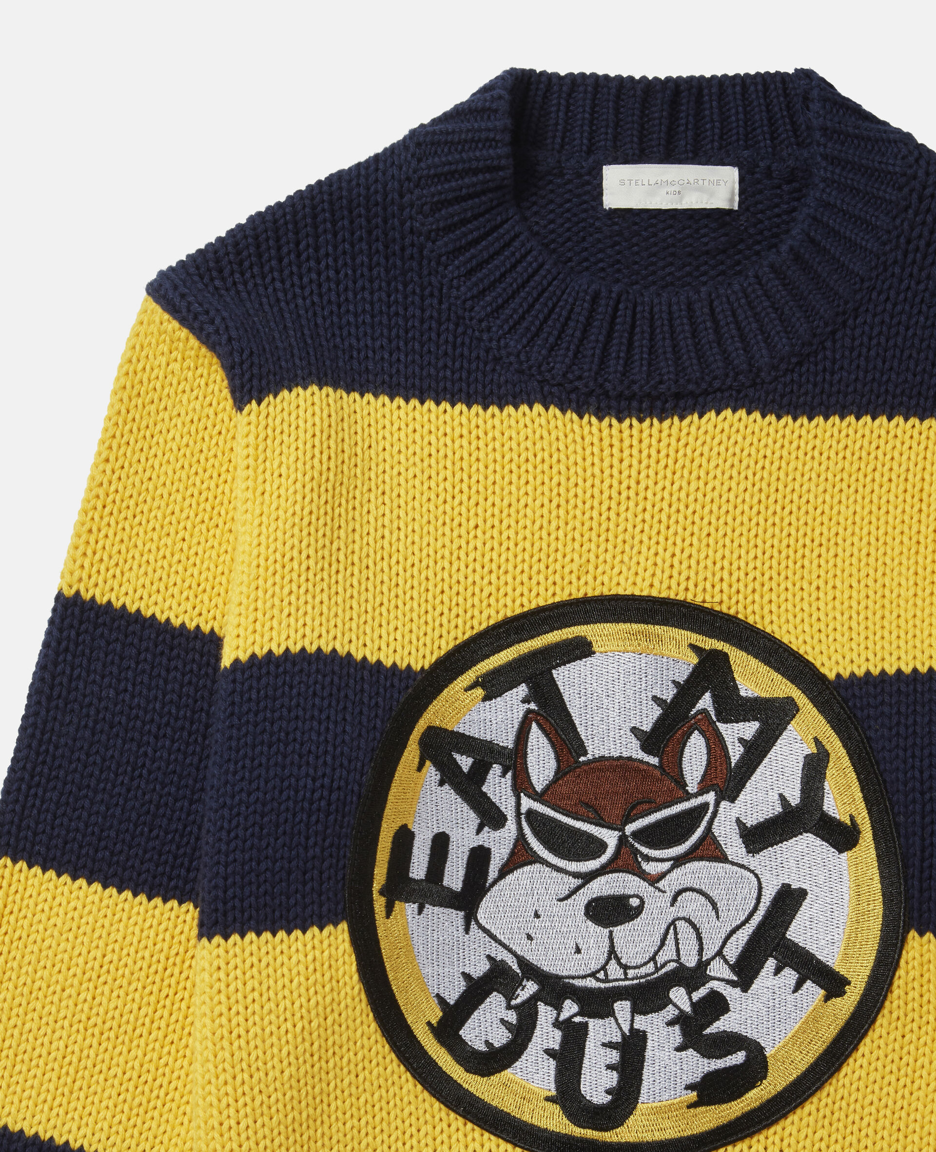 'Eat My Dust' Oversized Knit Jumper-Multicolour-large image number 1