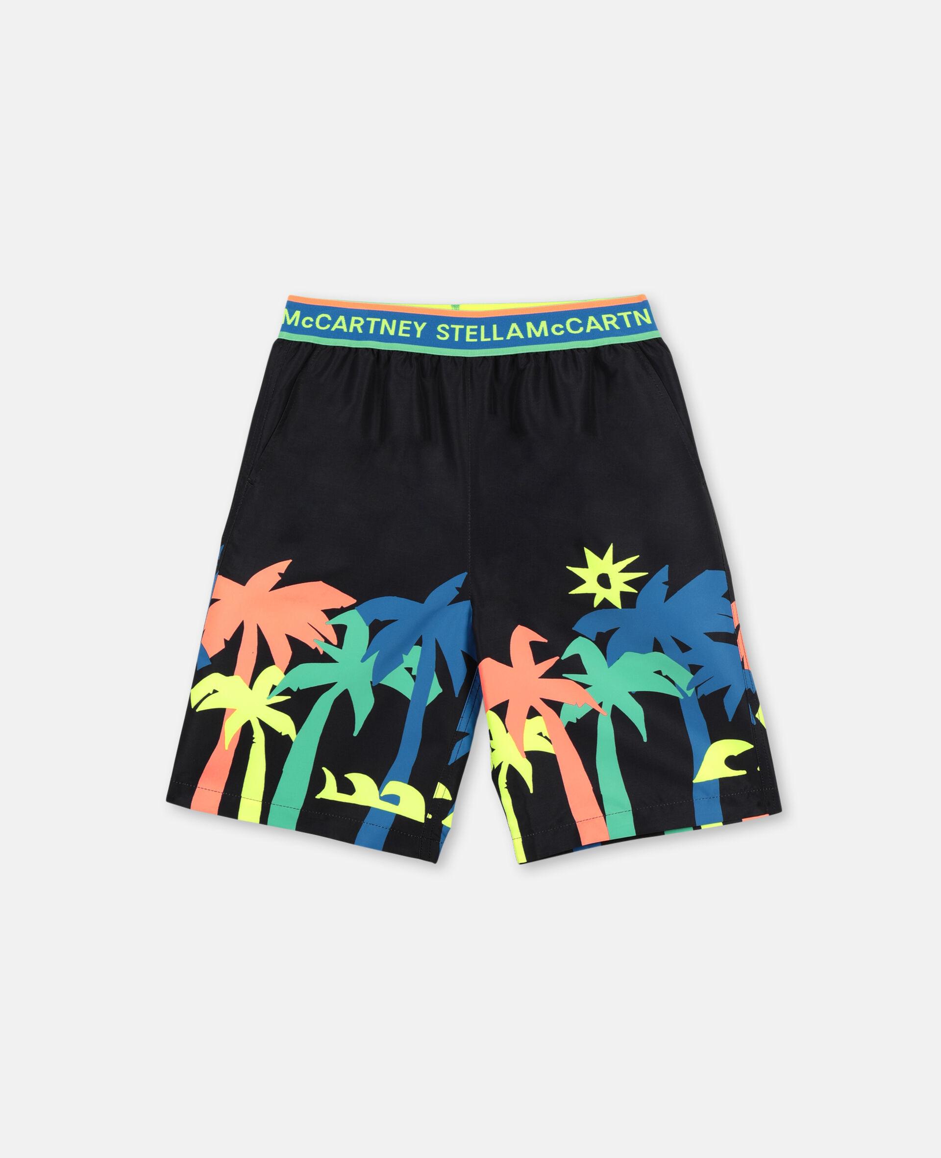 Palm Swim Shorts-Black-large image number 0