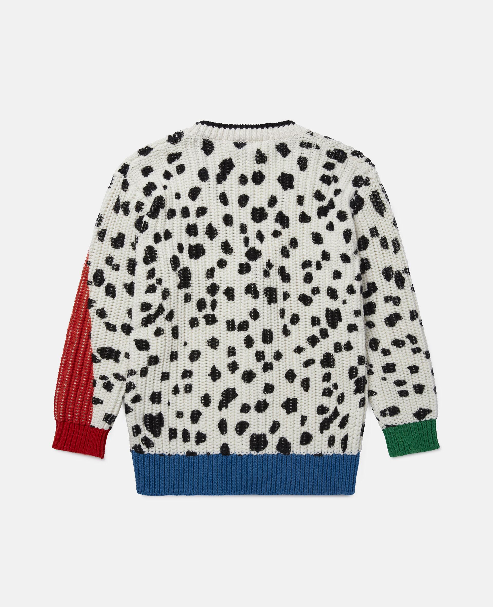 Dalmatian Spots Knit Cardigan -Multicolour-large image number 3