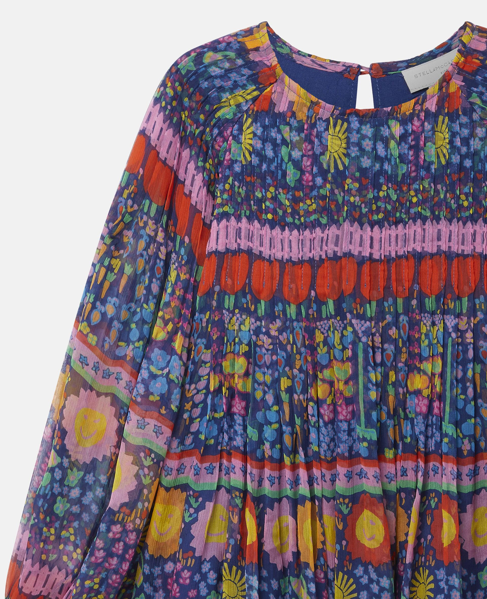 Georgette Silk Dress-Multicolour-large image number 2