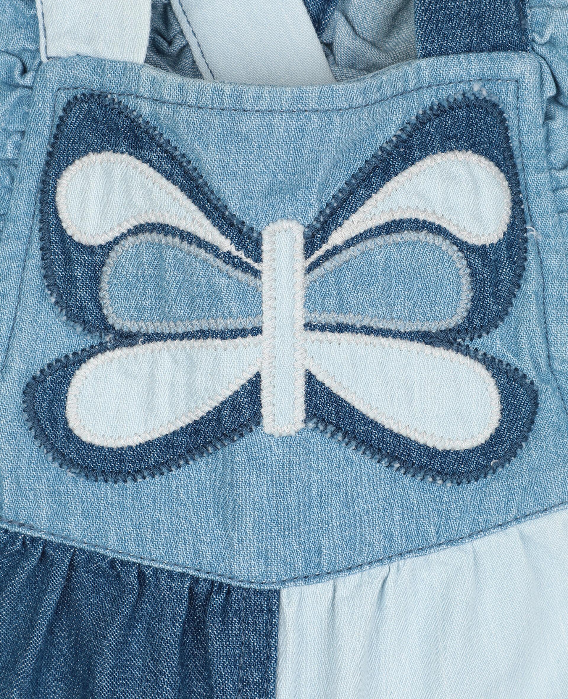Batterfly Light Denim Jumpsuit-Blue-large image number 1