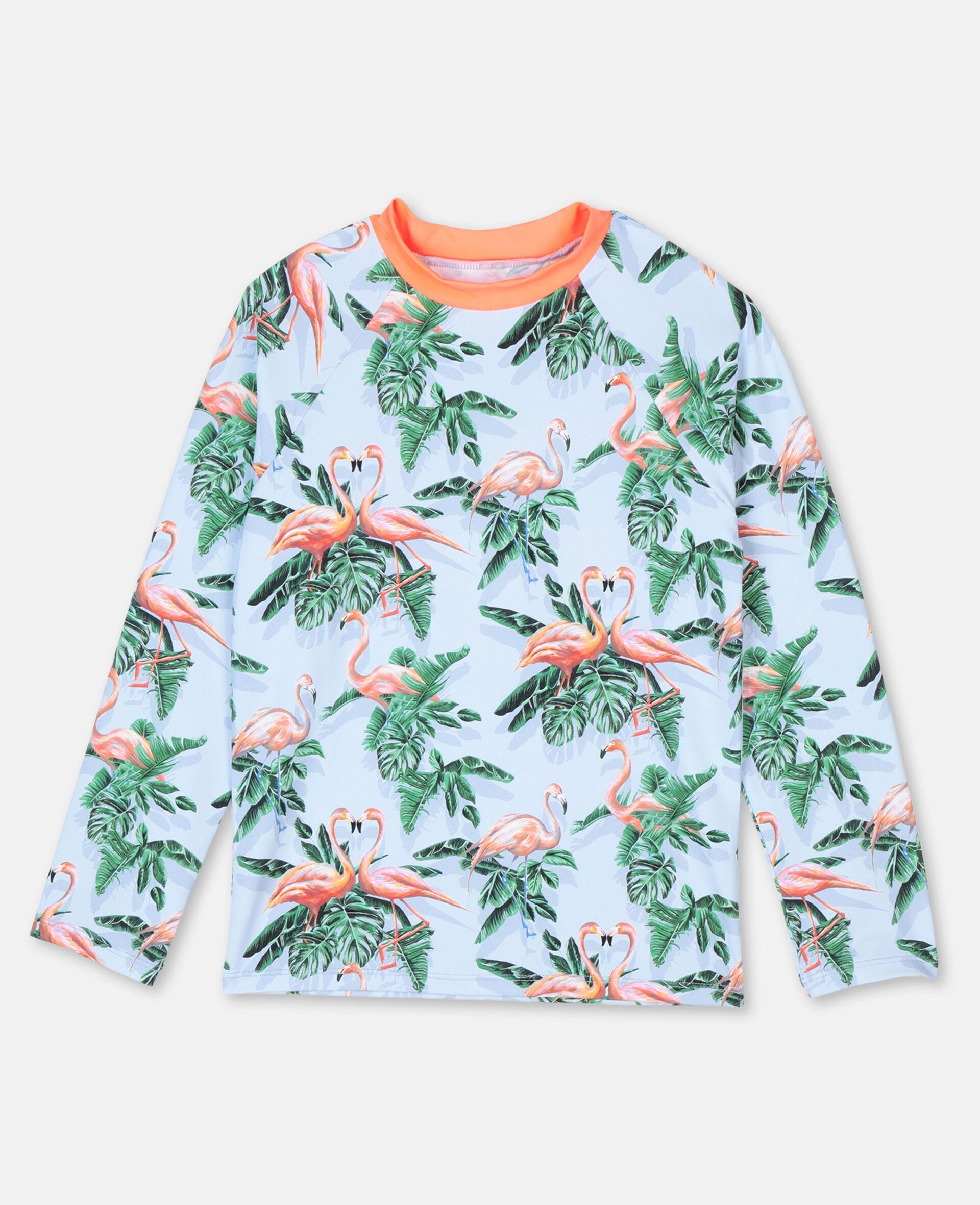 Painty Flamingo游泳T恤 -绿色-large image number 0