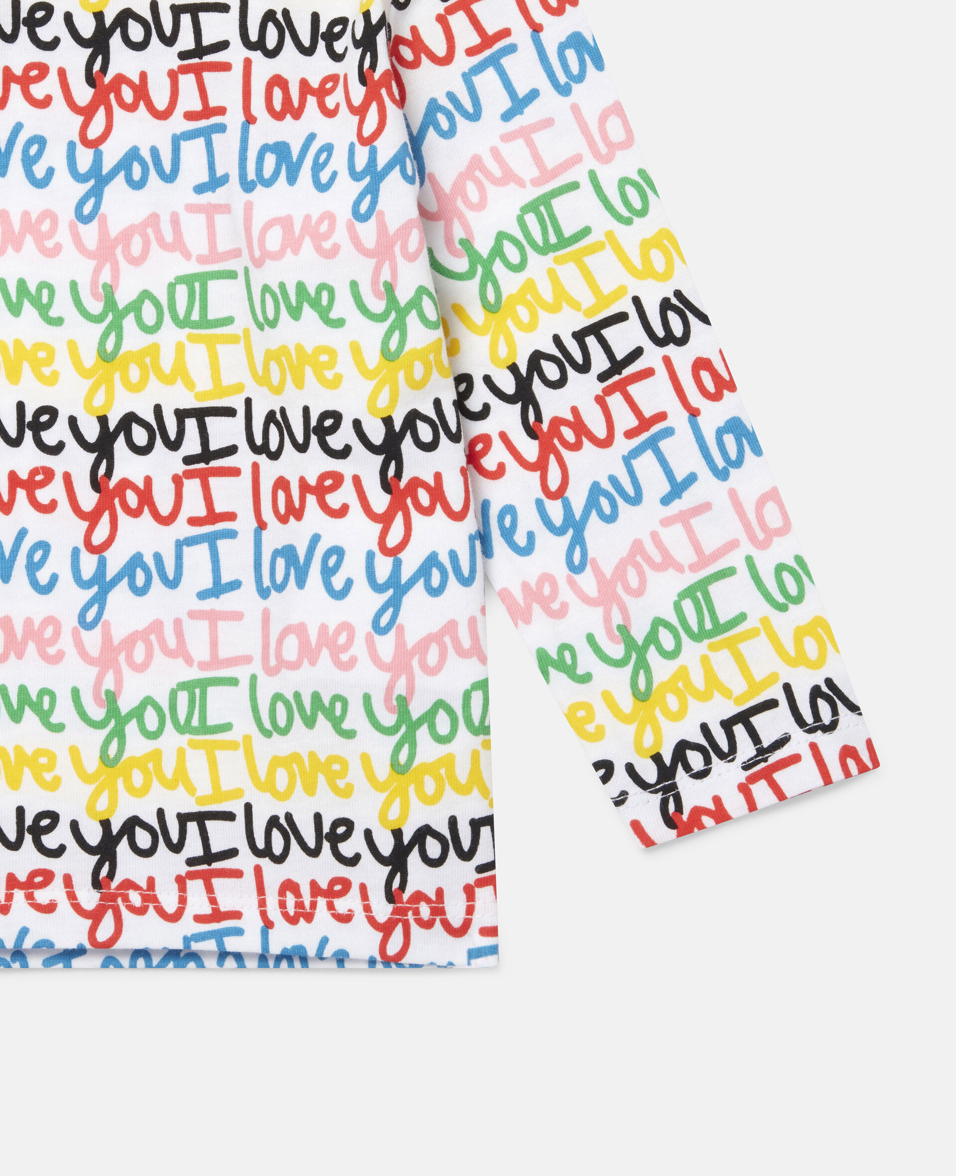 'Love You' Cotton Top-Multicolour-large image number 2