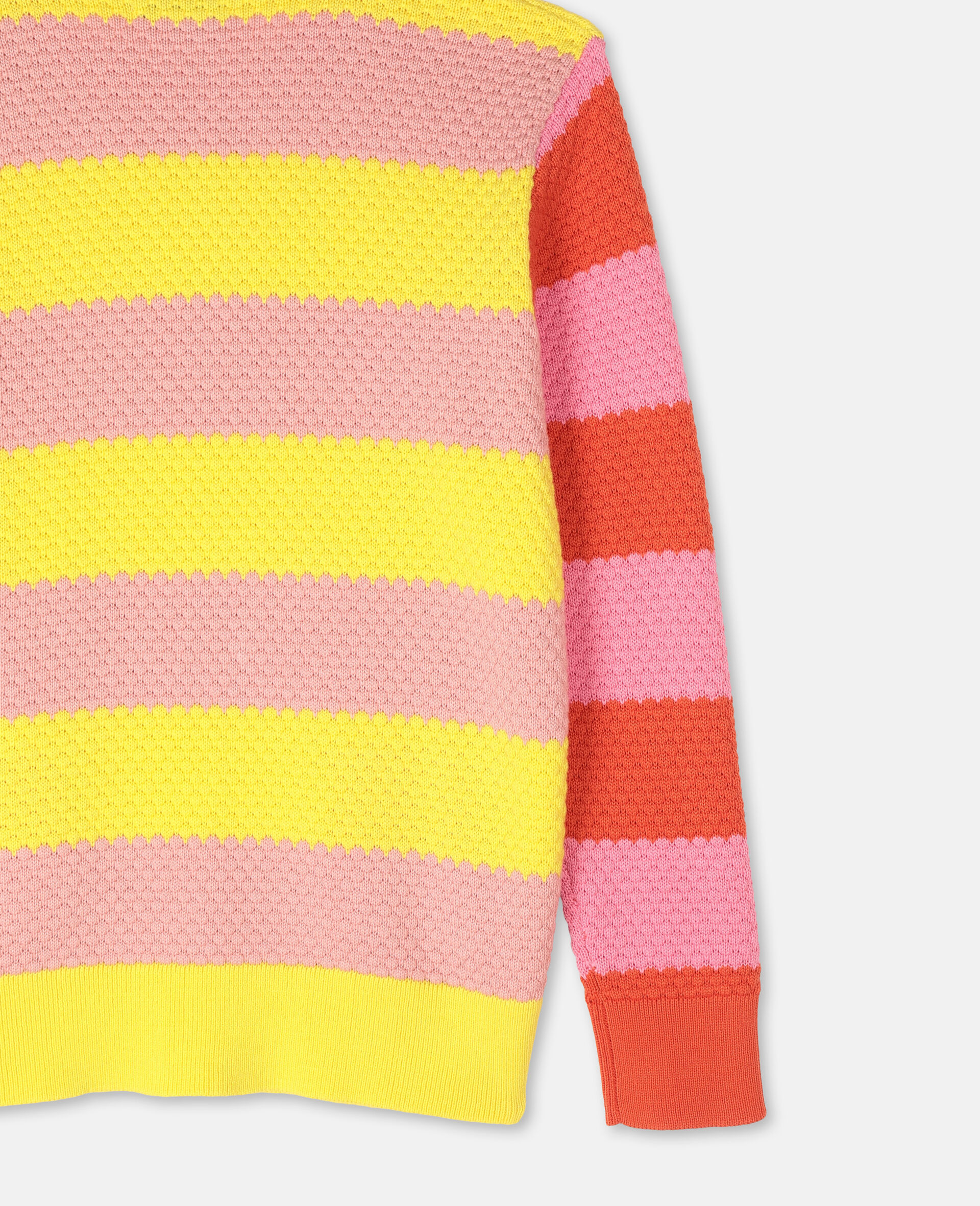 Bubble Knit Cotton Jumper -Red-large image number 2