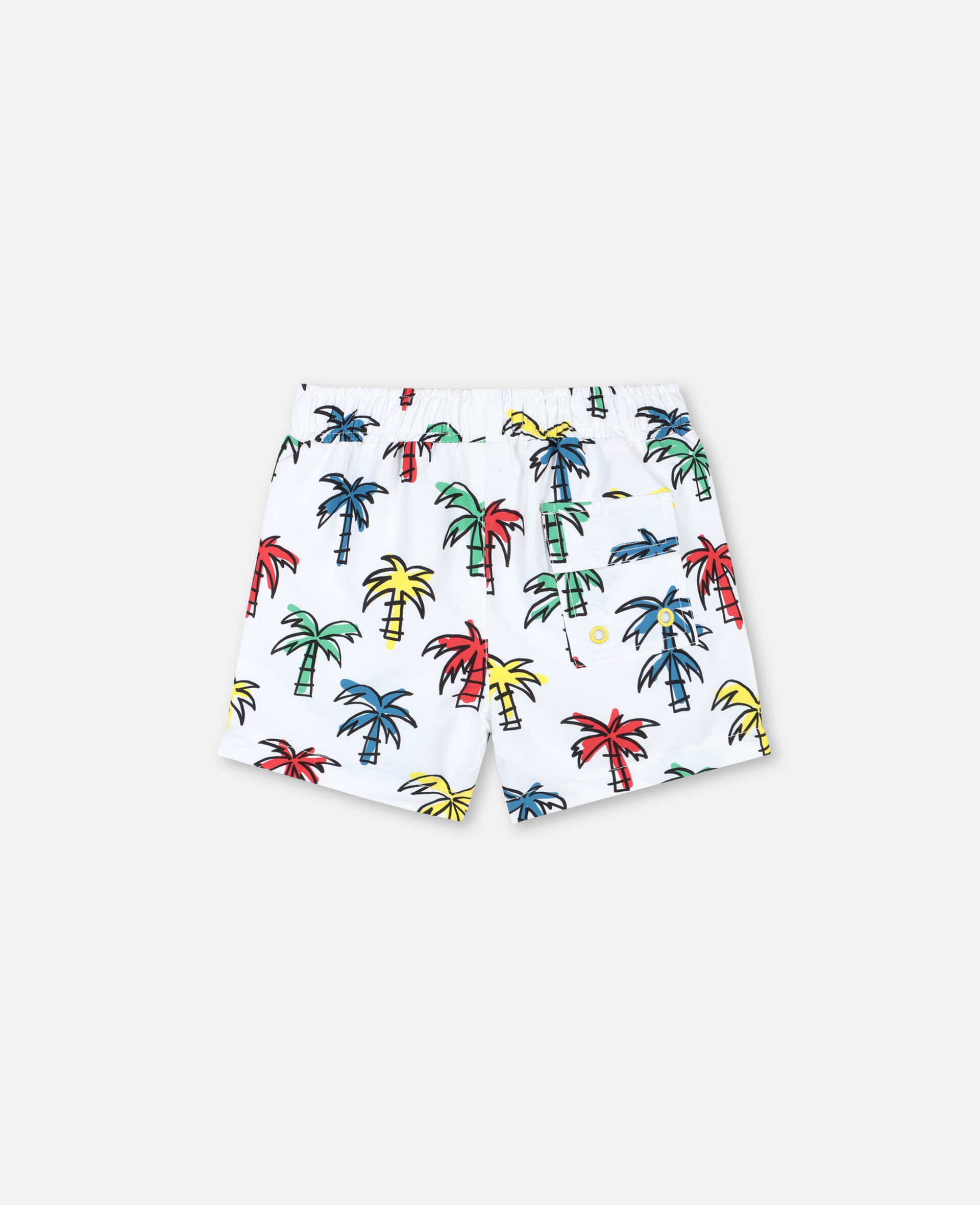 Doodly Palm Trees Swim Shorts-Multicolour-large image number 4