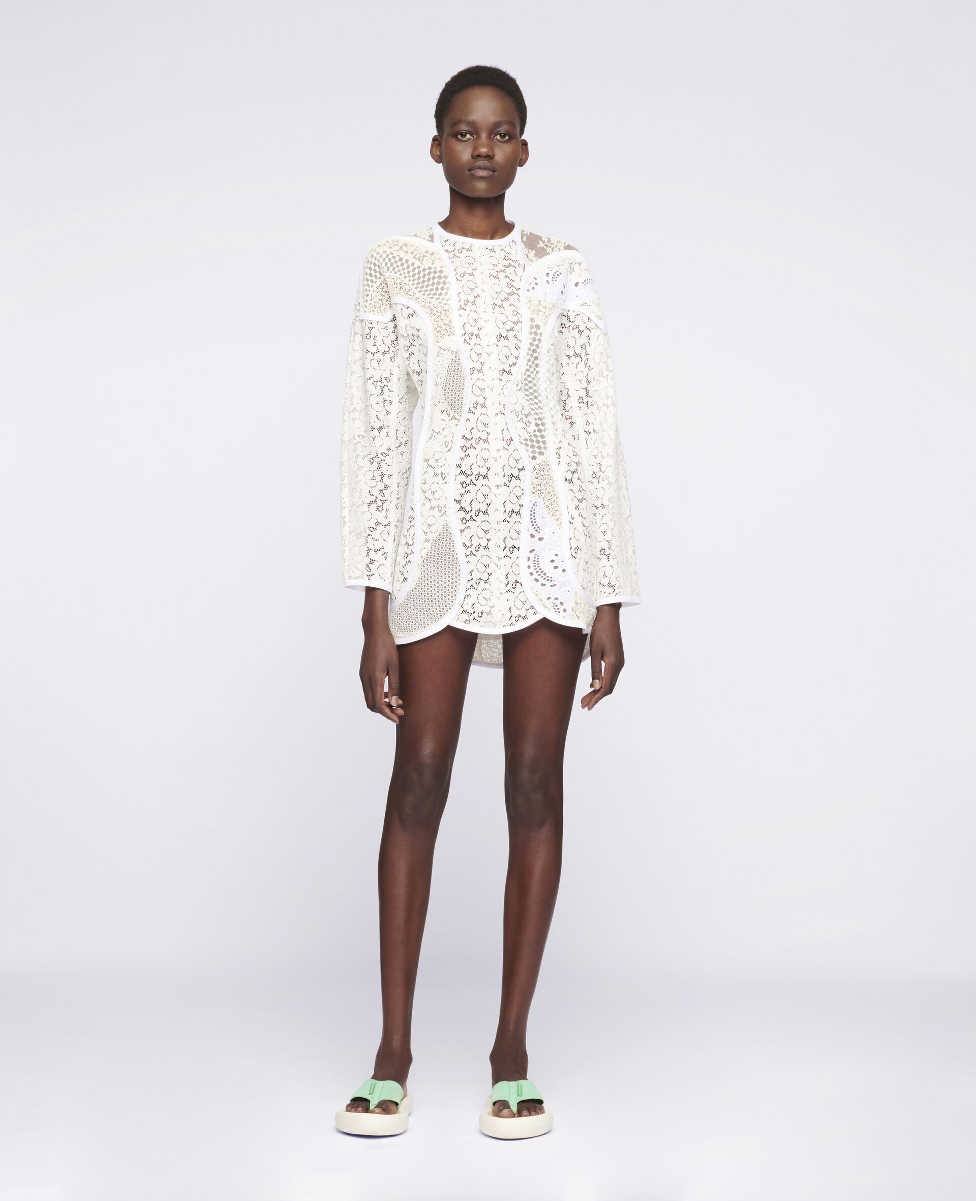 Daphne Mini Dress-White-large image number 1