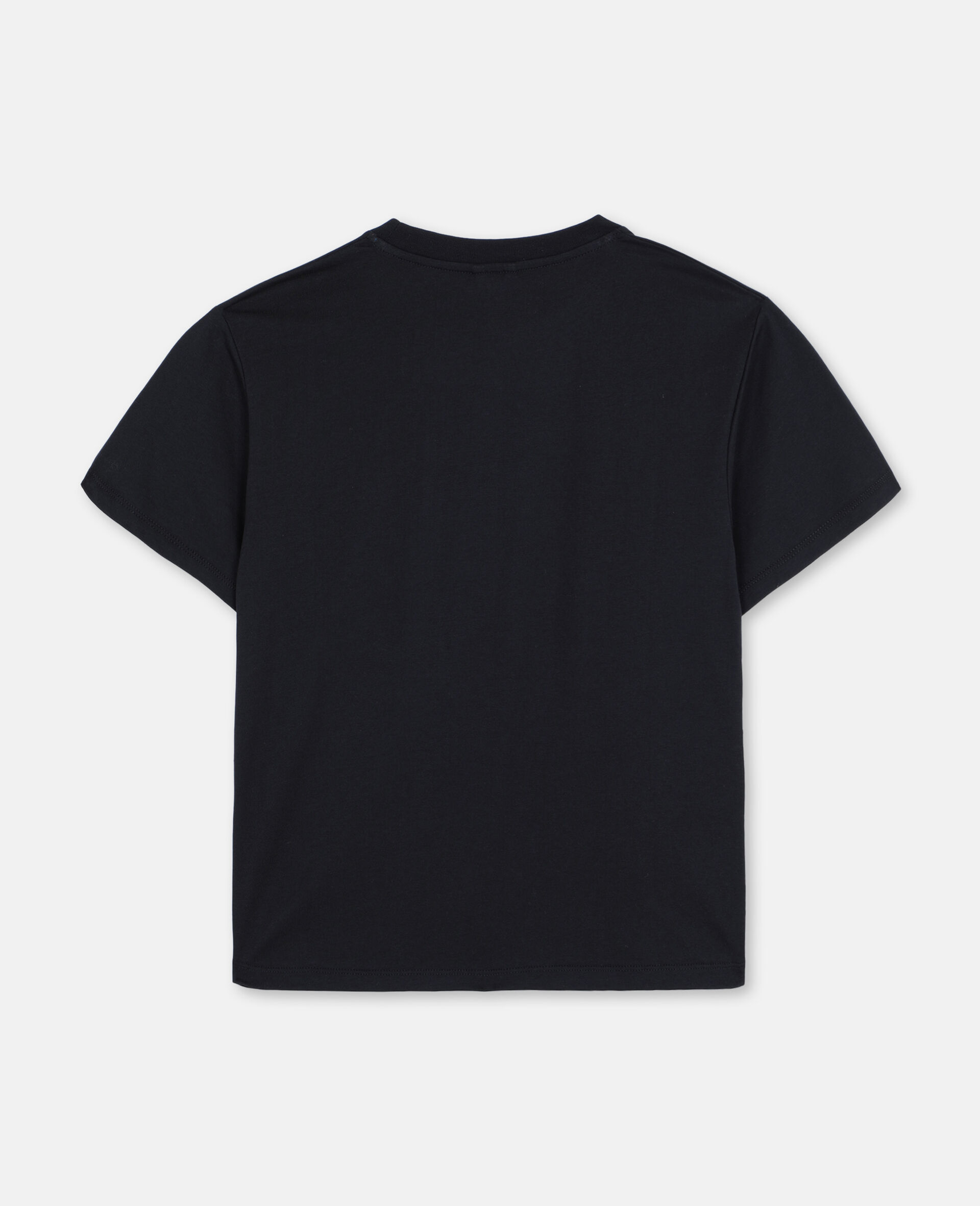T-Shirt Oversize in Cotone con Skater -Nero-large image number 3