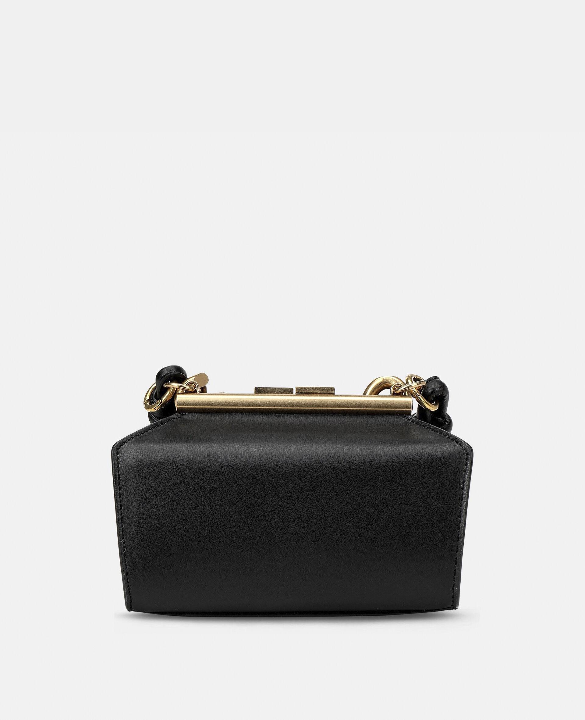 Petit sac avec bandoulière chaîne épaisse-Noir-large image number 2