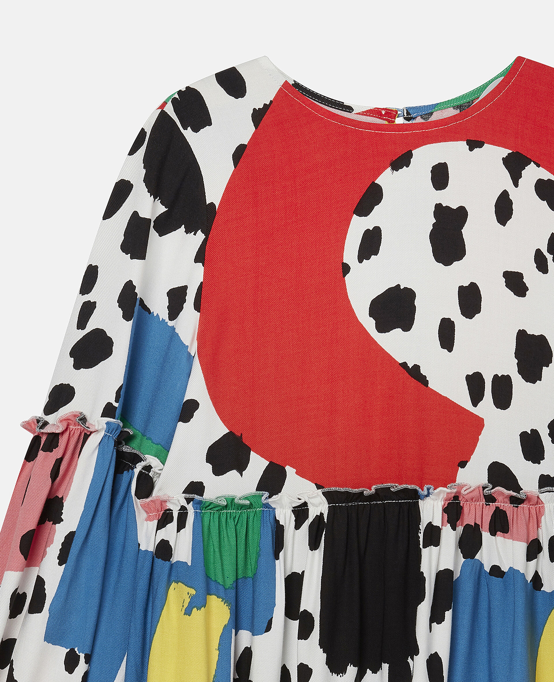Dalmatian Spots Twill Dress-Multicolour-large image number 2