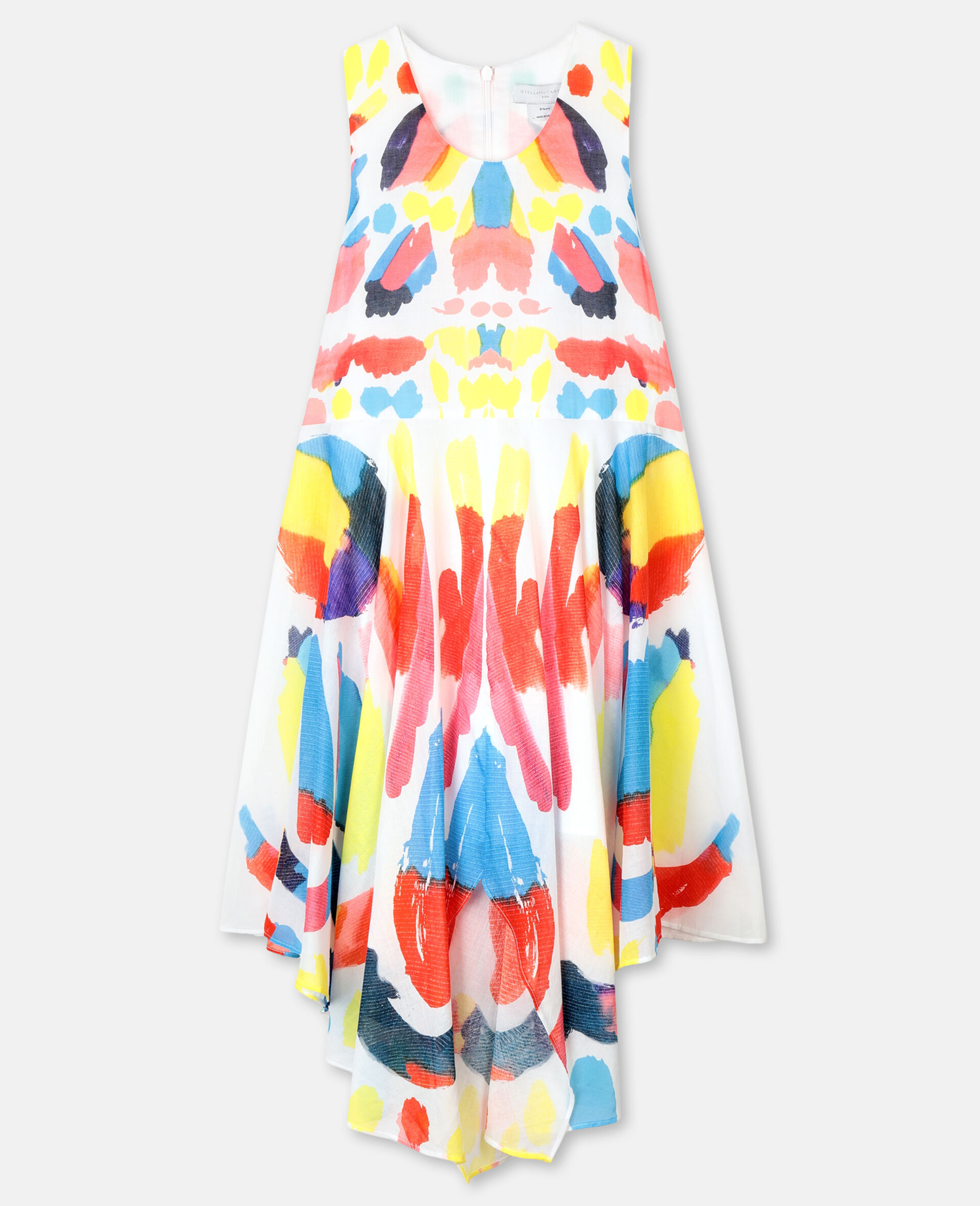 Butterfly Cotton Dress-Multicolour-large image number 0