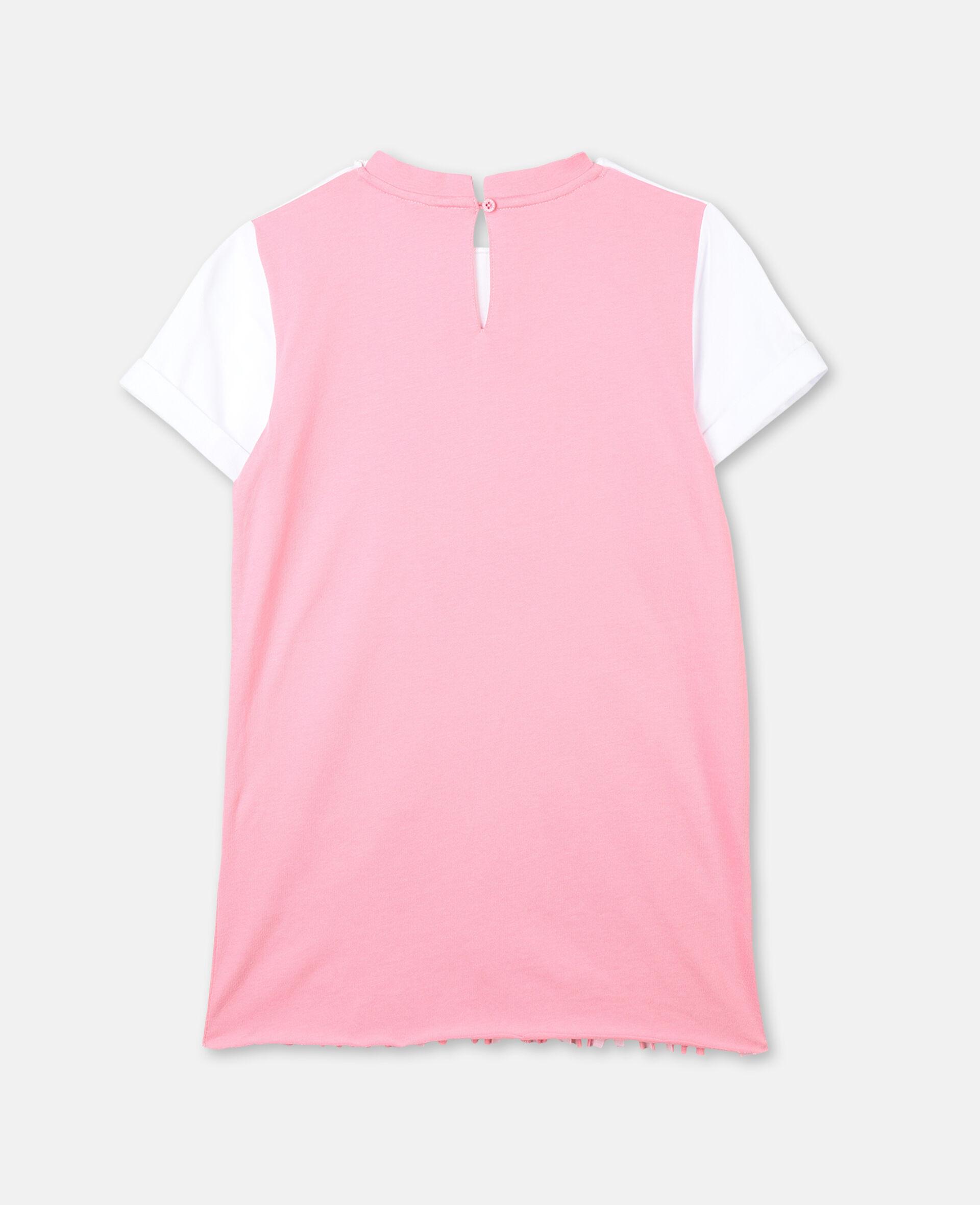 Flamingo Cotton Dress-White-large image number 3