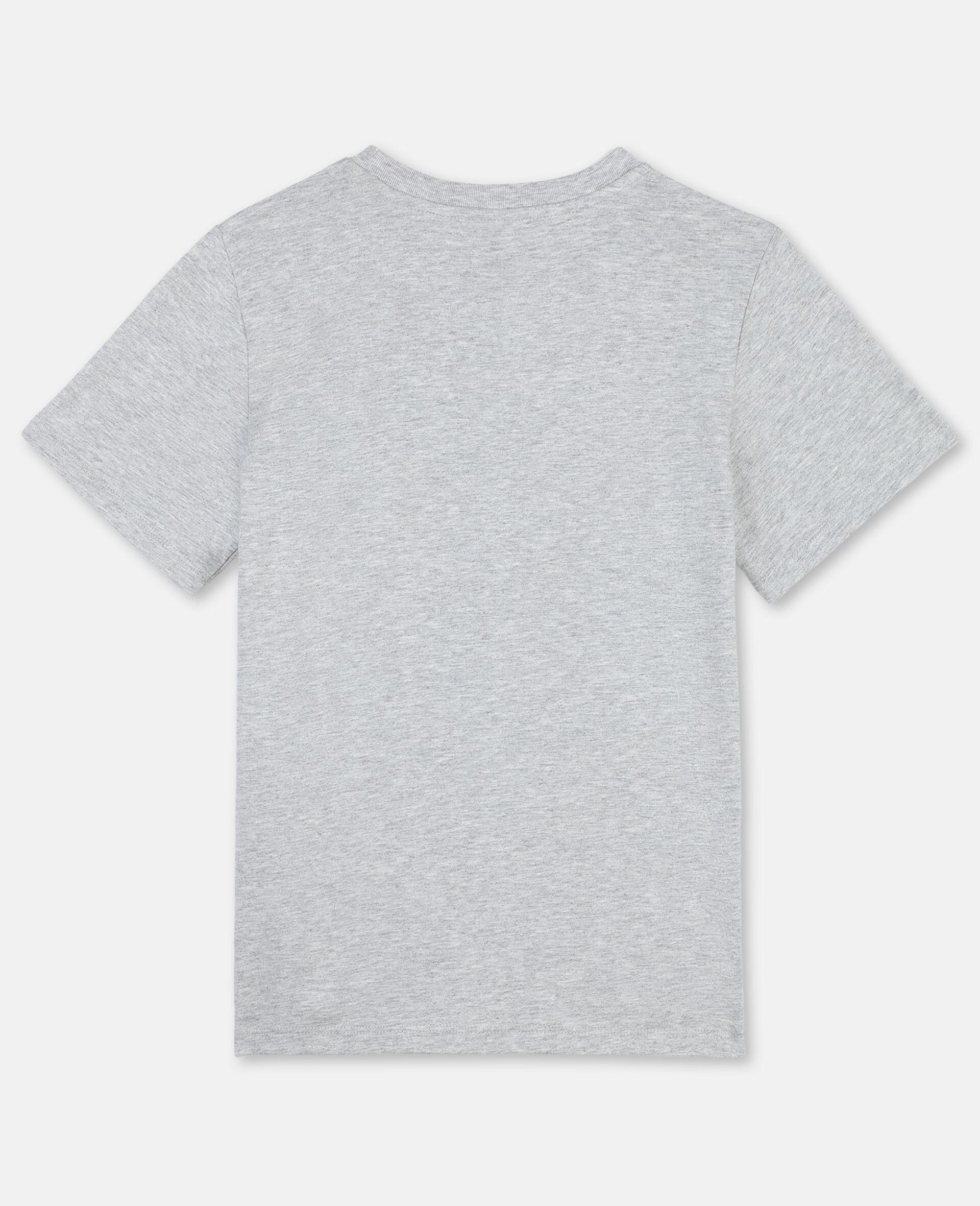 ポーズ アップ コットン Tシャツ -グレー-large image number 3