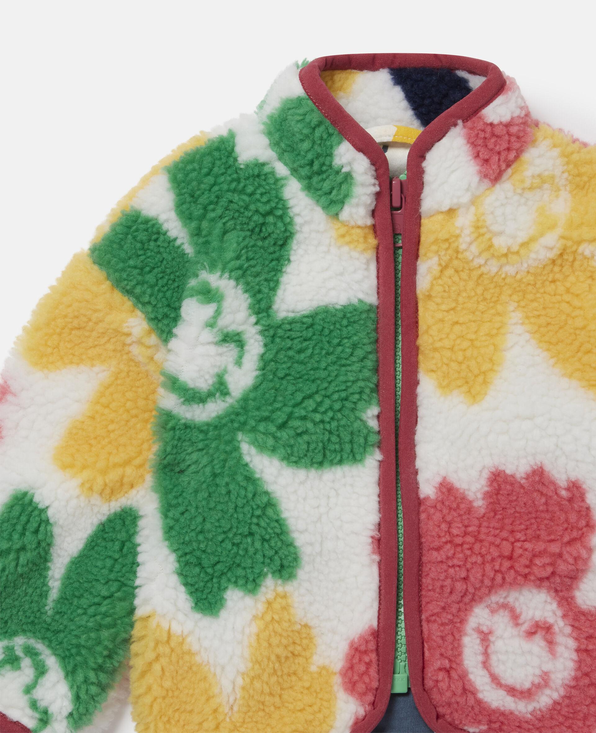 Veste en Teddy motif fleurs souriantes-Fantaisie-large image number 2