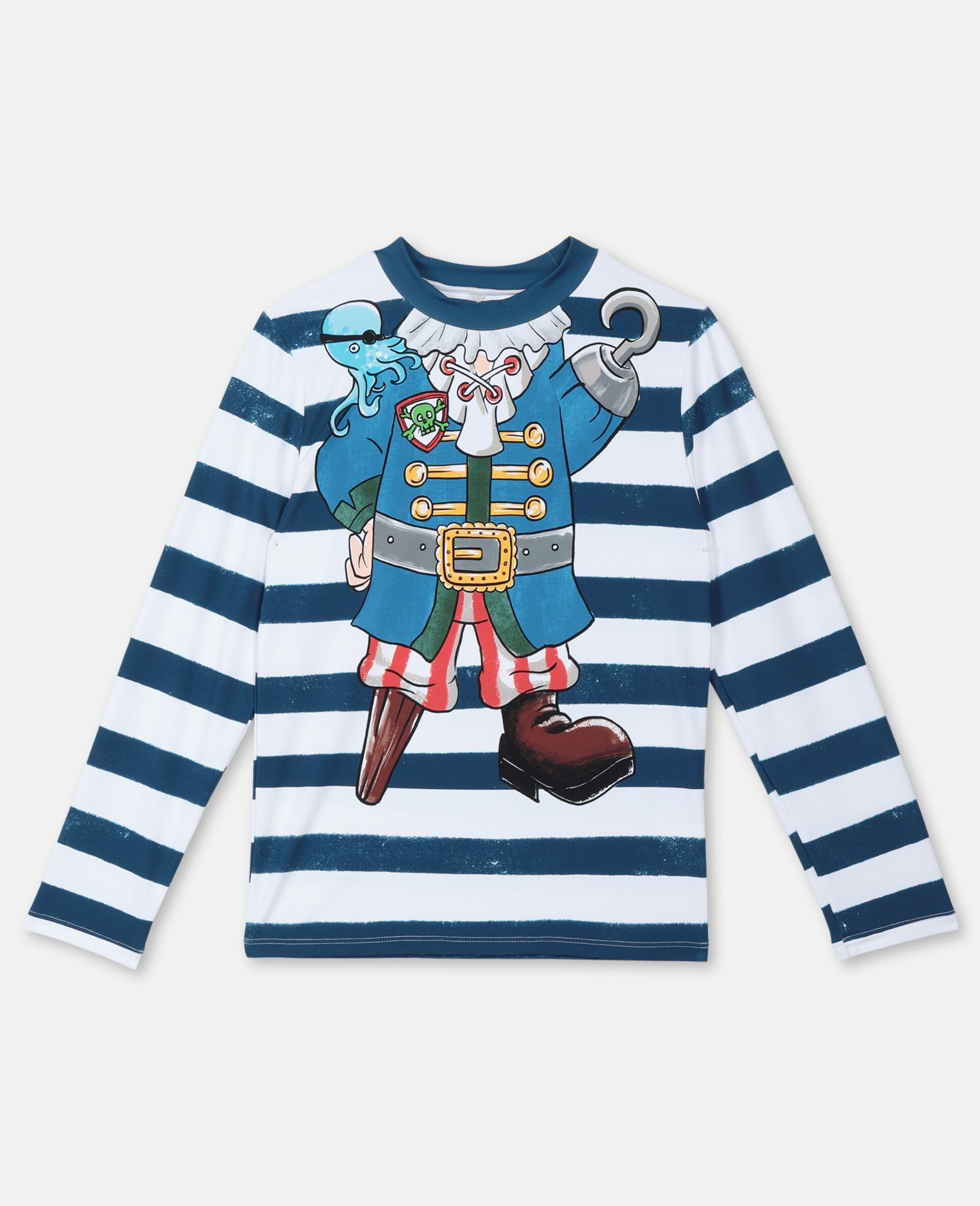 Trompe-L'Oeil Pirate Swim T-shirt -Multicoloured-large image number 0