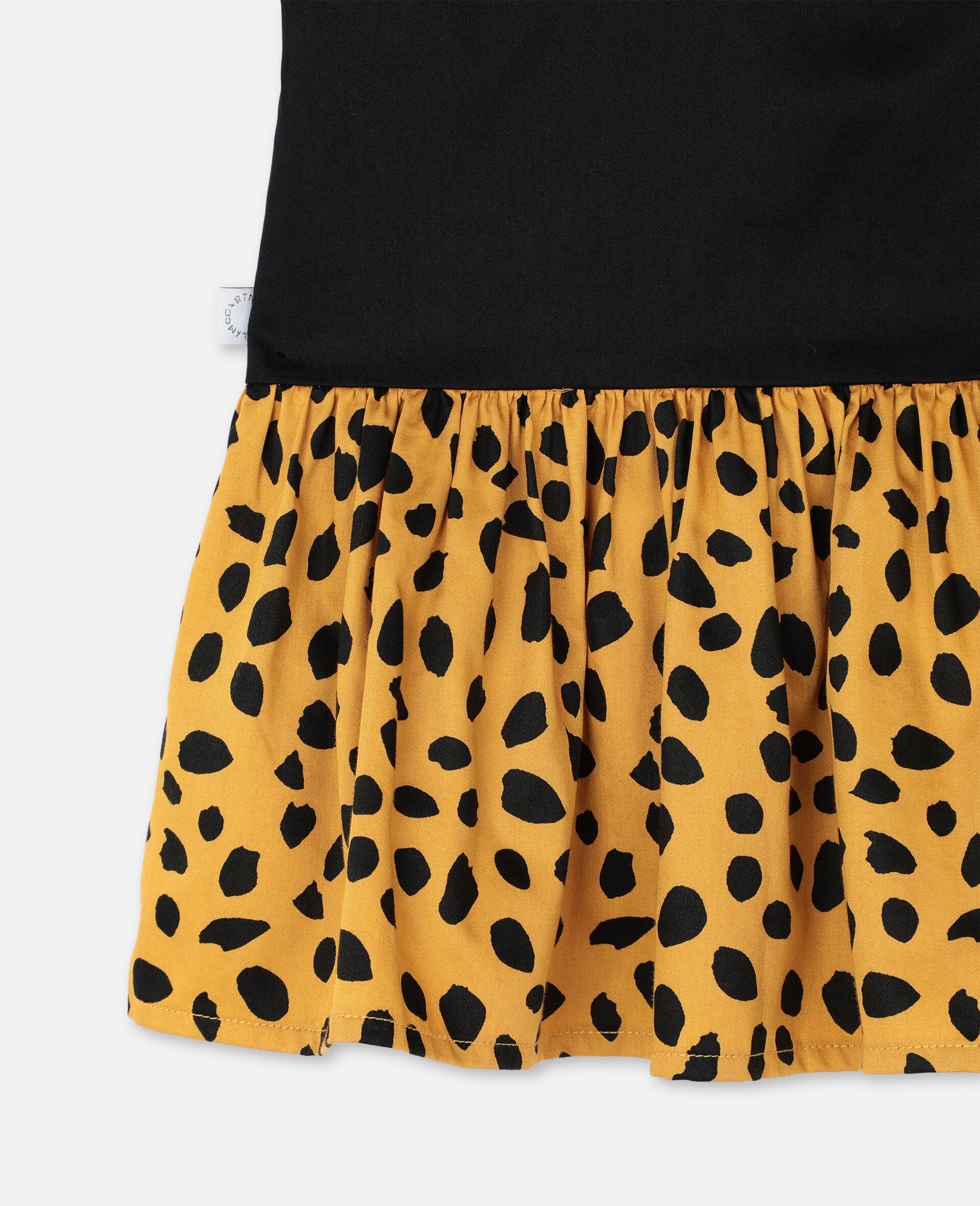 Cheetah Cotton Dress-Black-large image number 2