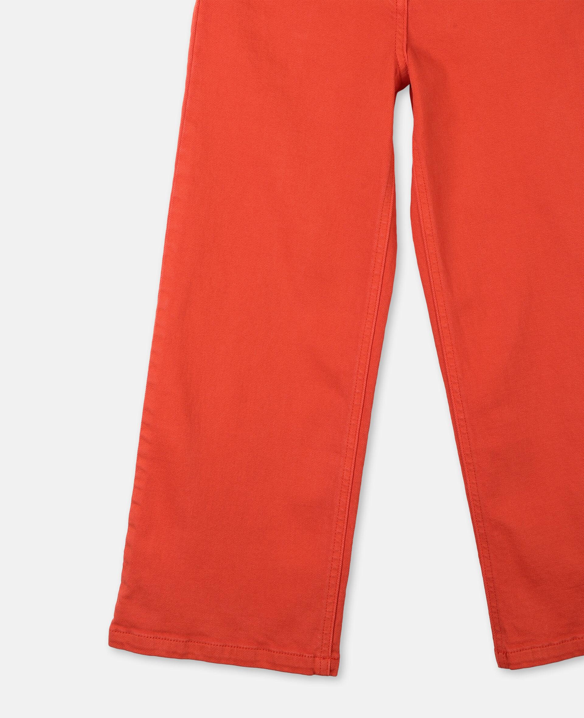 棉质牛仔裤-红色-large image number 2