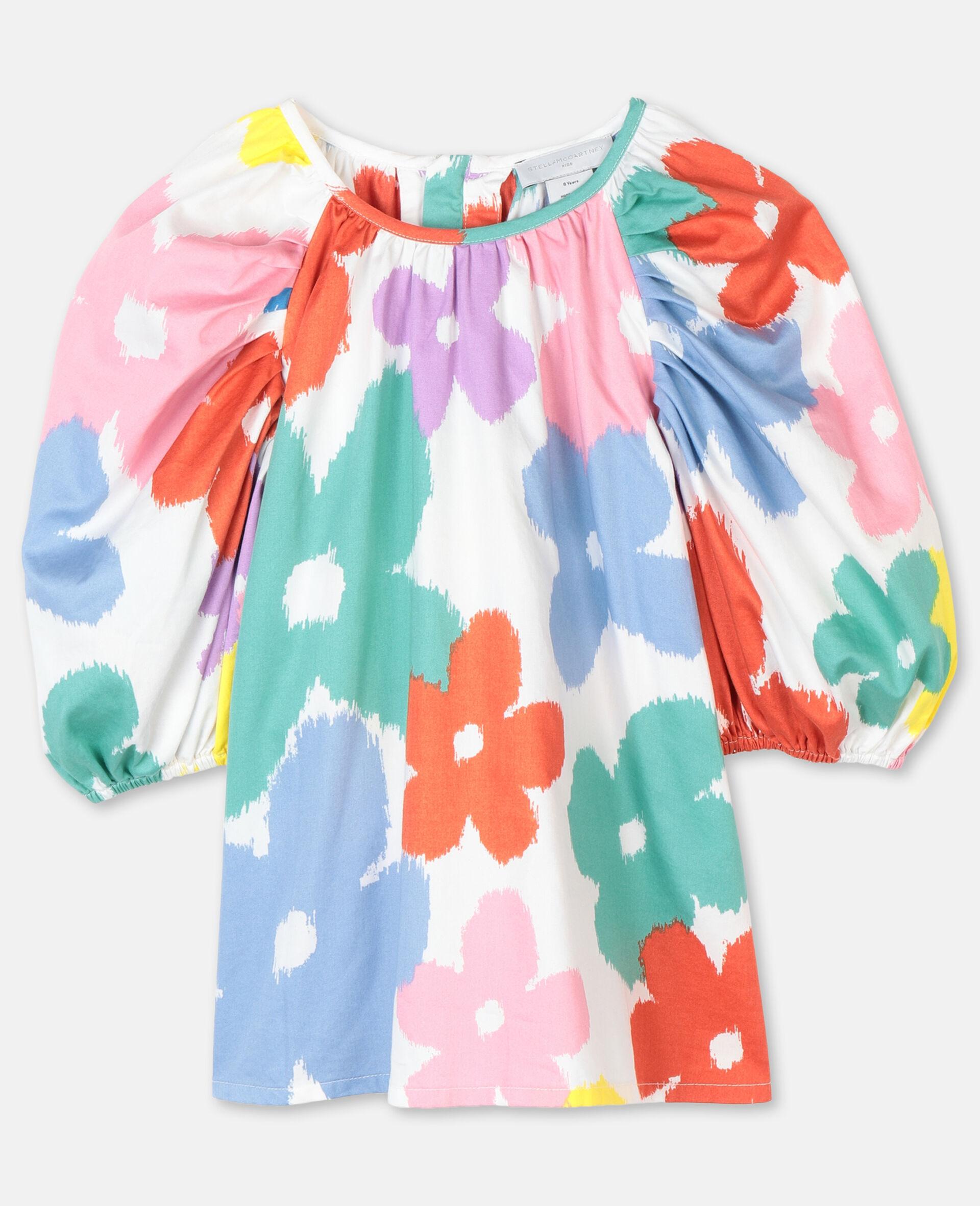 Flowers Cotton Top-Multicolour-large image number 0