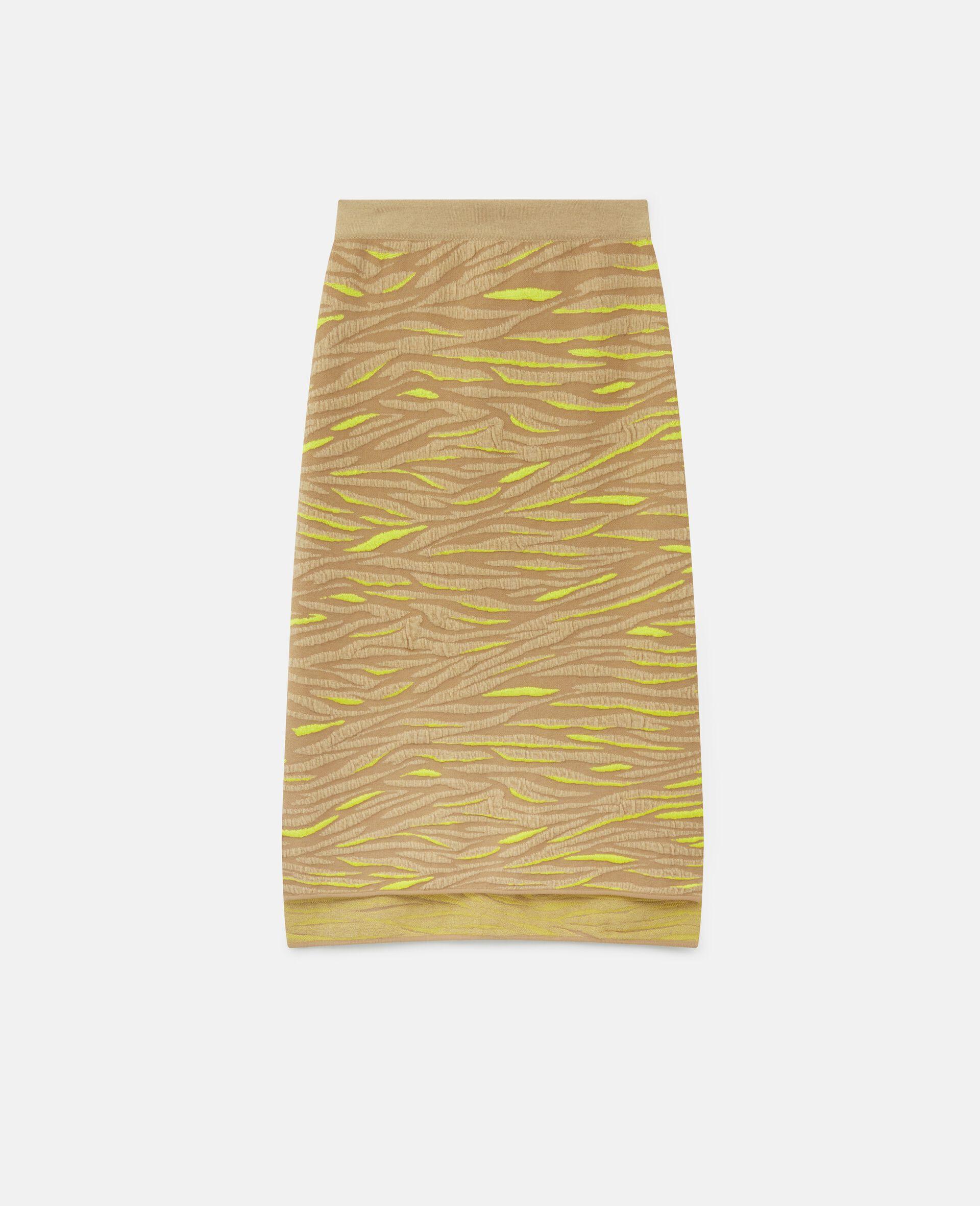 Animal Pattern Skirt-Brown-large image number 0