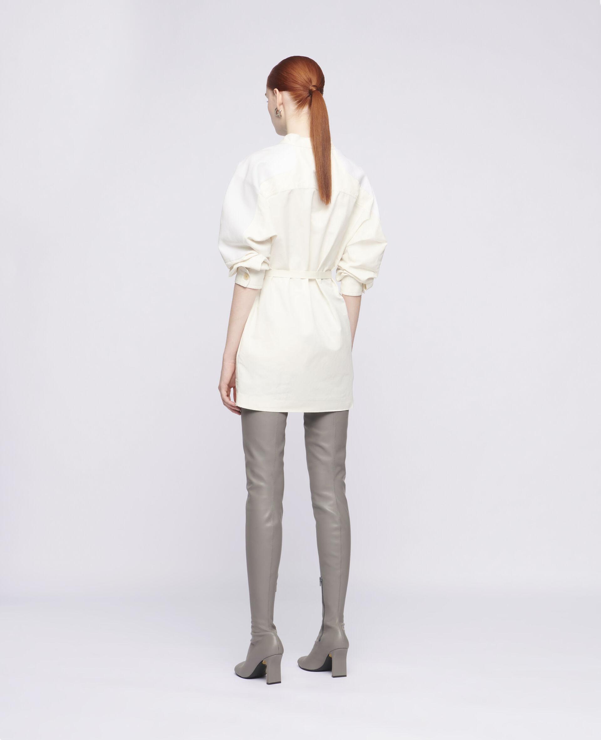 Robe courte Liana-Blanc-large image number 2