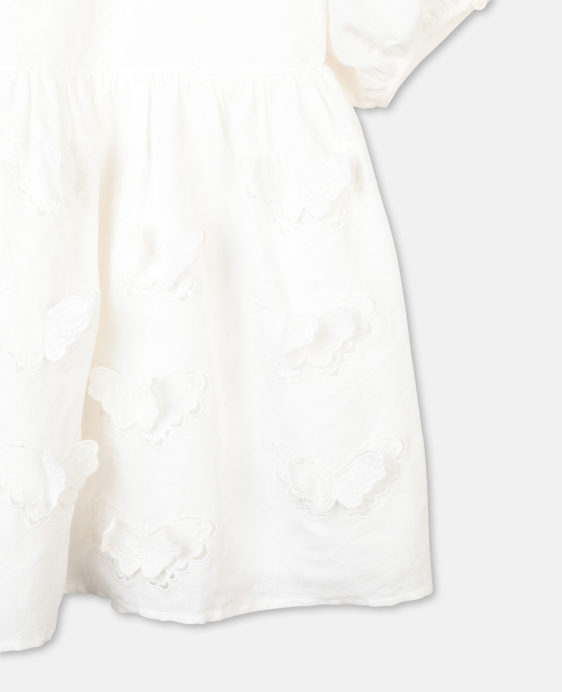 Embroidered Butterfly Dress-White-large image number 1