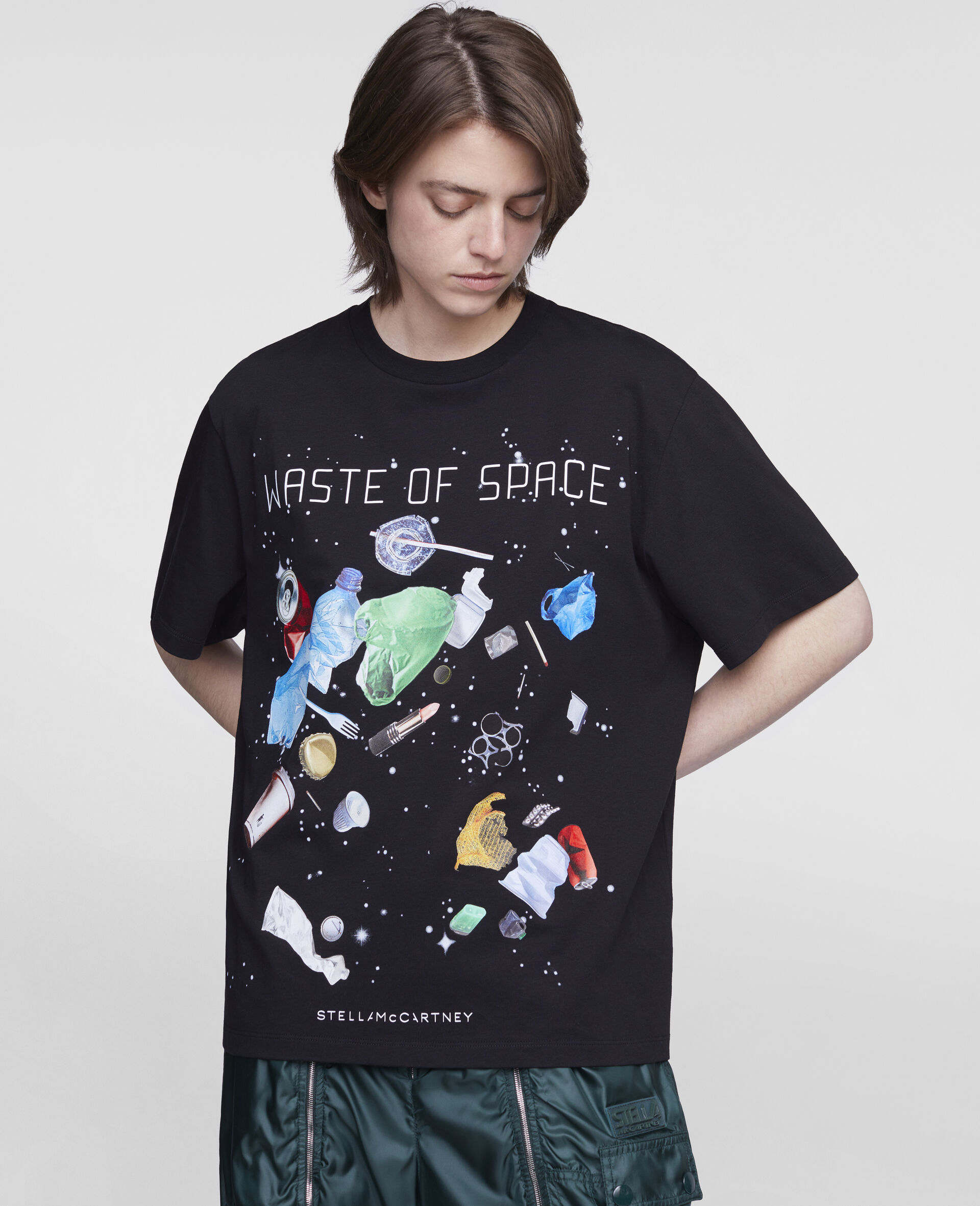 """T-Shirt """"Waste Of Space""""-Nero-large image number 3"""