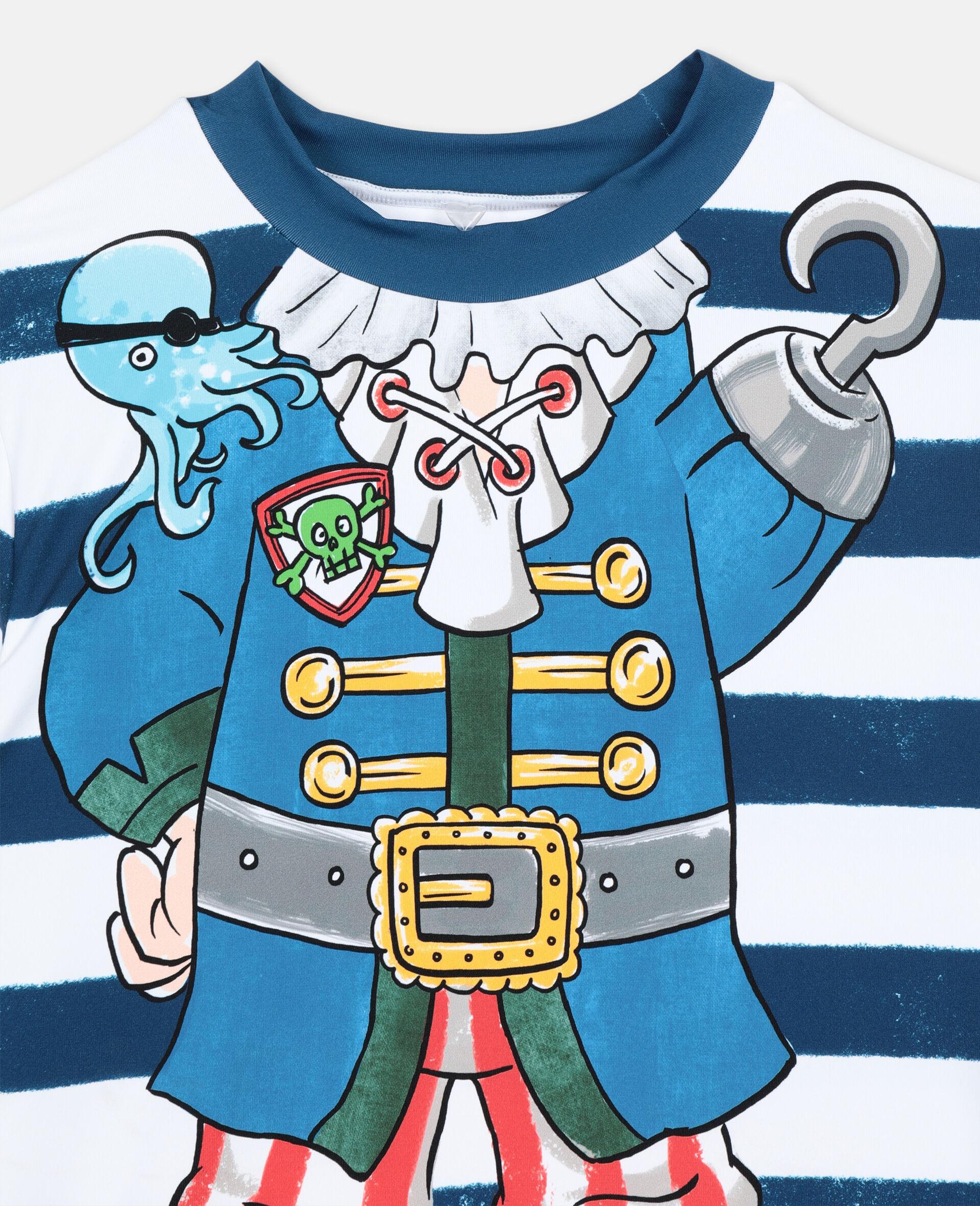 Trompe-L'Oeil Pirate Swim T-shirt -Multicoloured-large image number 1