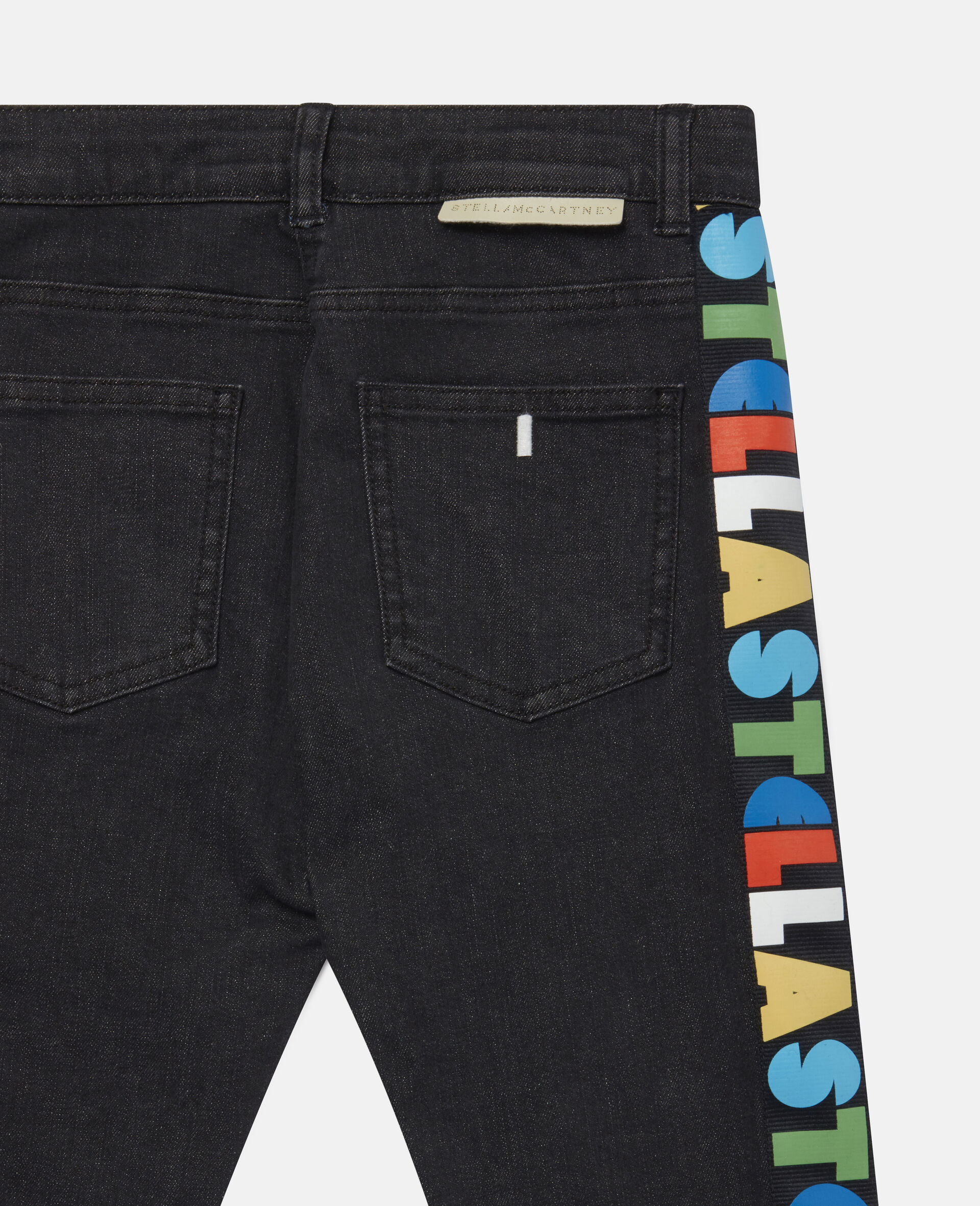 Stella Logo Tape Denim Trousers-Black-large image number 2