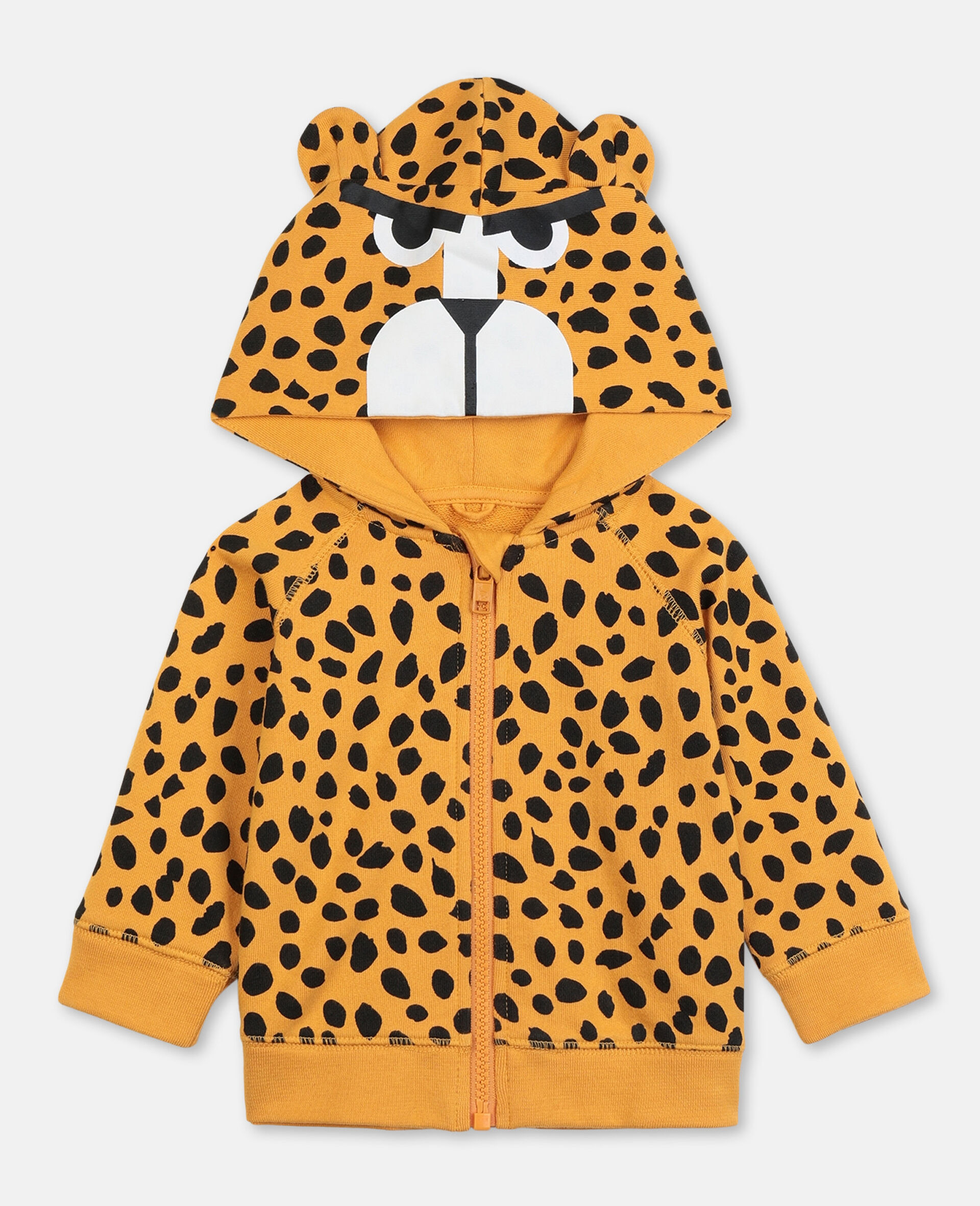 Cheetah Dots Cotton Hoodie -Multicolour-large image number 0